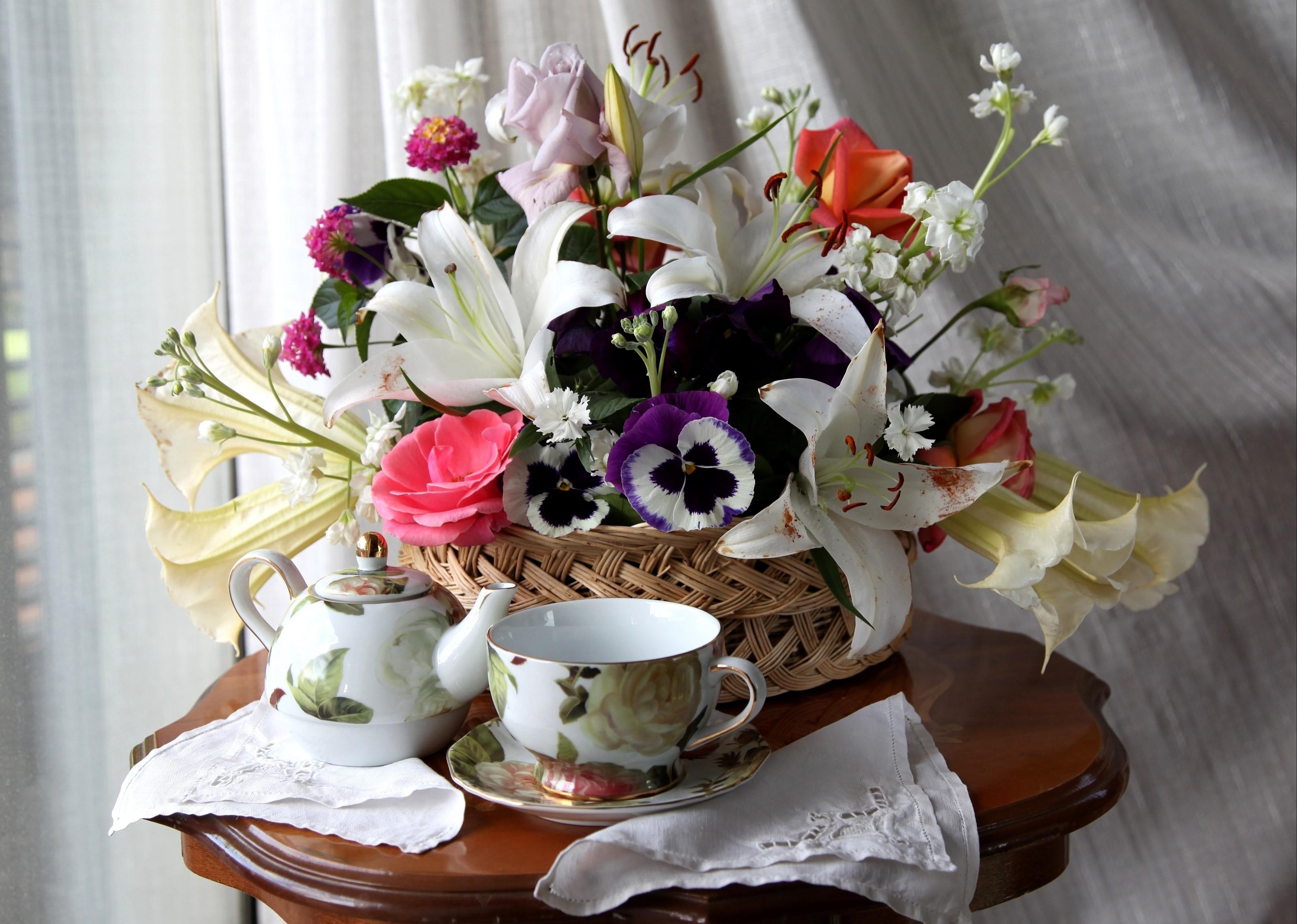 деревянное красивые цветы фото и картинки с добрым утром время