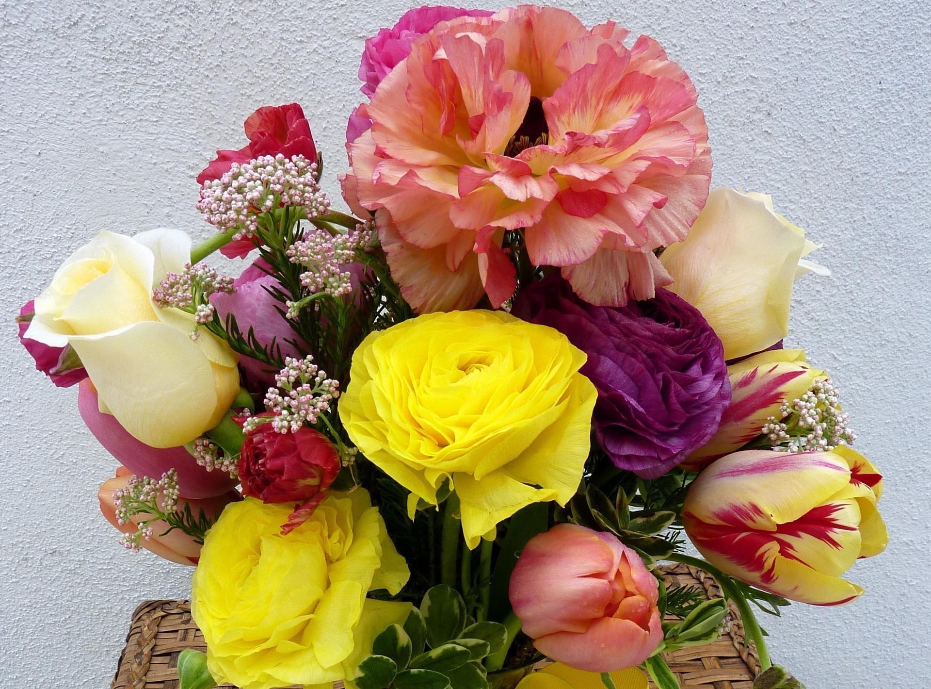 Картинки цветов тюльпанов и роз, открытки продажу
