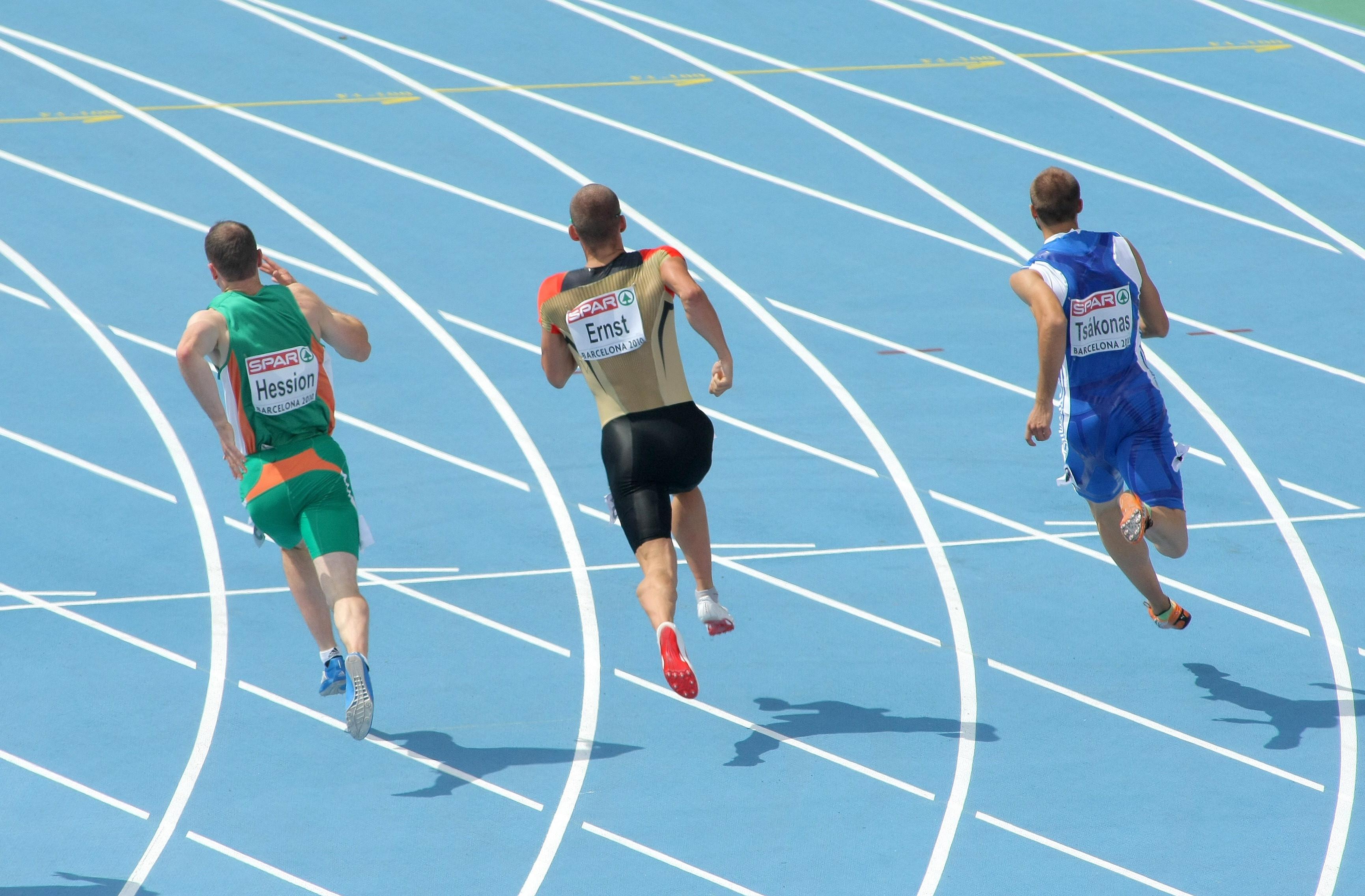 Wallpaper : Runners, Track, Back, Running 3461x2272