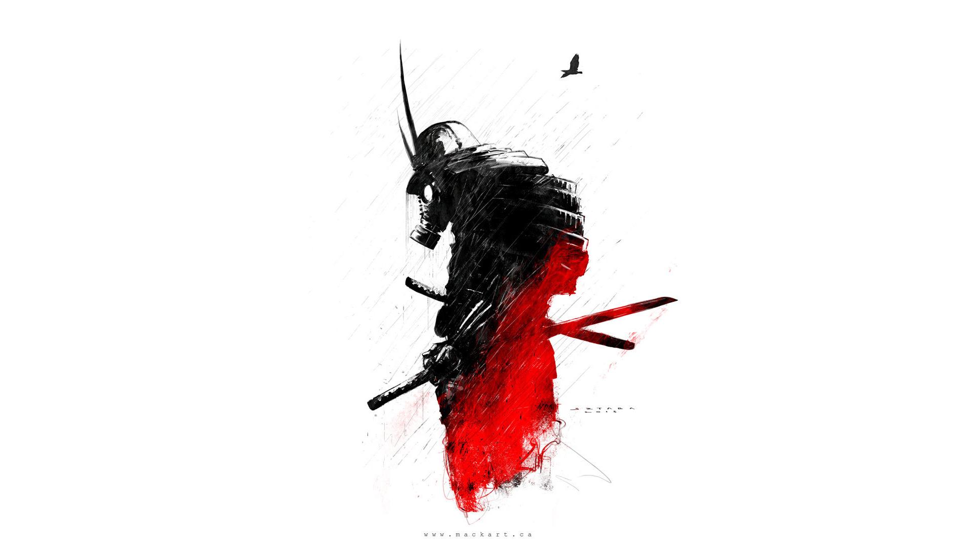 Fond D Ecran Samourai Dessin Masques A Gaz 1920x1080 Vfgx 1291805 Fond D Ecran Wallhere