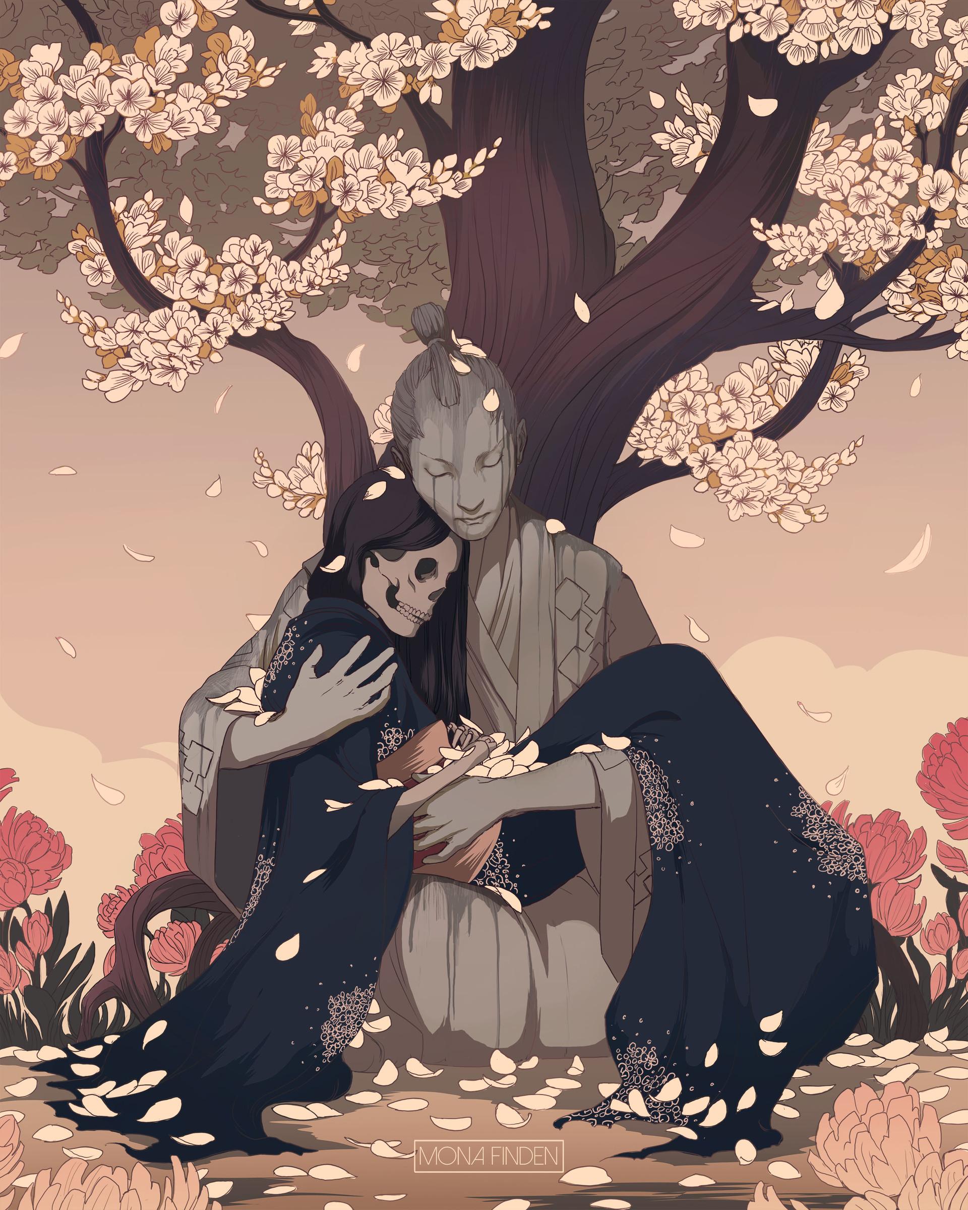 Cherry Blossom Fantasy Art Wallpaper