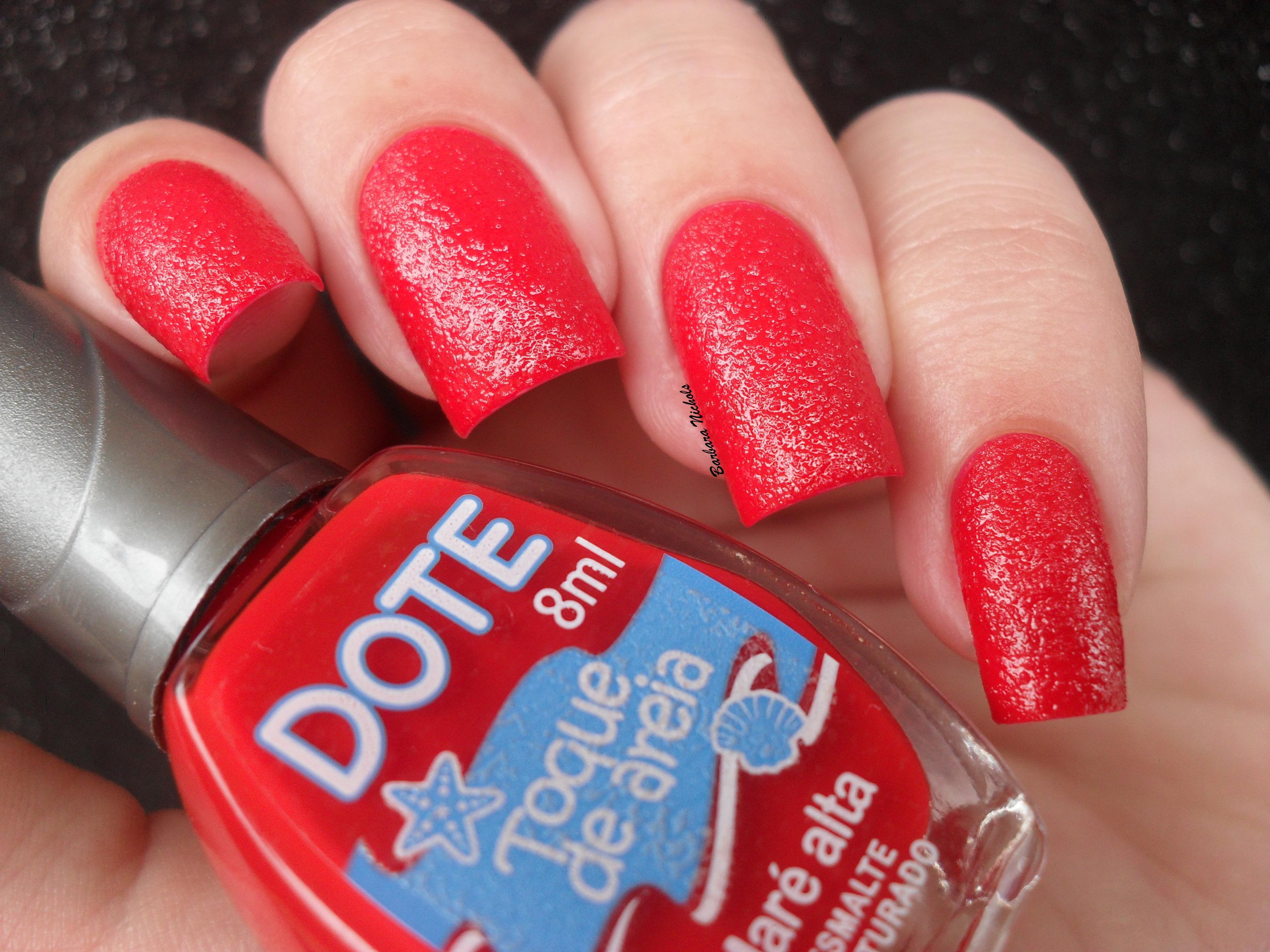 Sand Red Texture Polish Nails Hand Nail Finger Cosmetics Textura Rednails Nailpolish M Os Vermelho