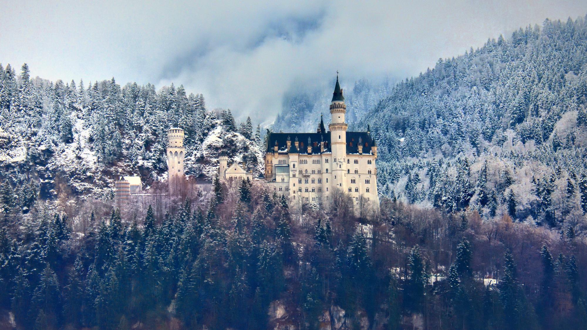 hintergrundbilder schlo neuschwanstein bayern hohenschwangau f ssen winter rock schnee. Black Bedroom Furniture Sets. Home Design Ideas