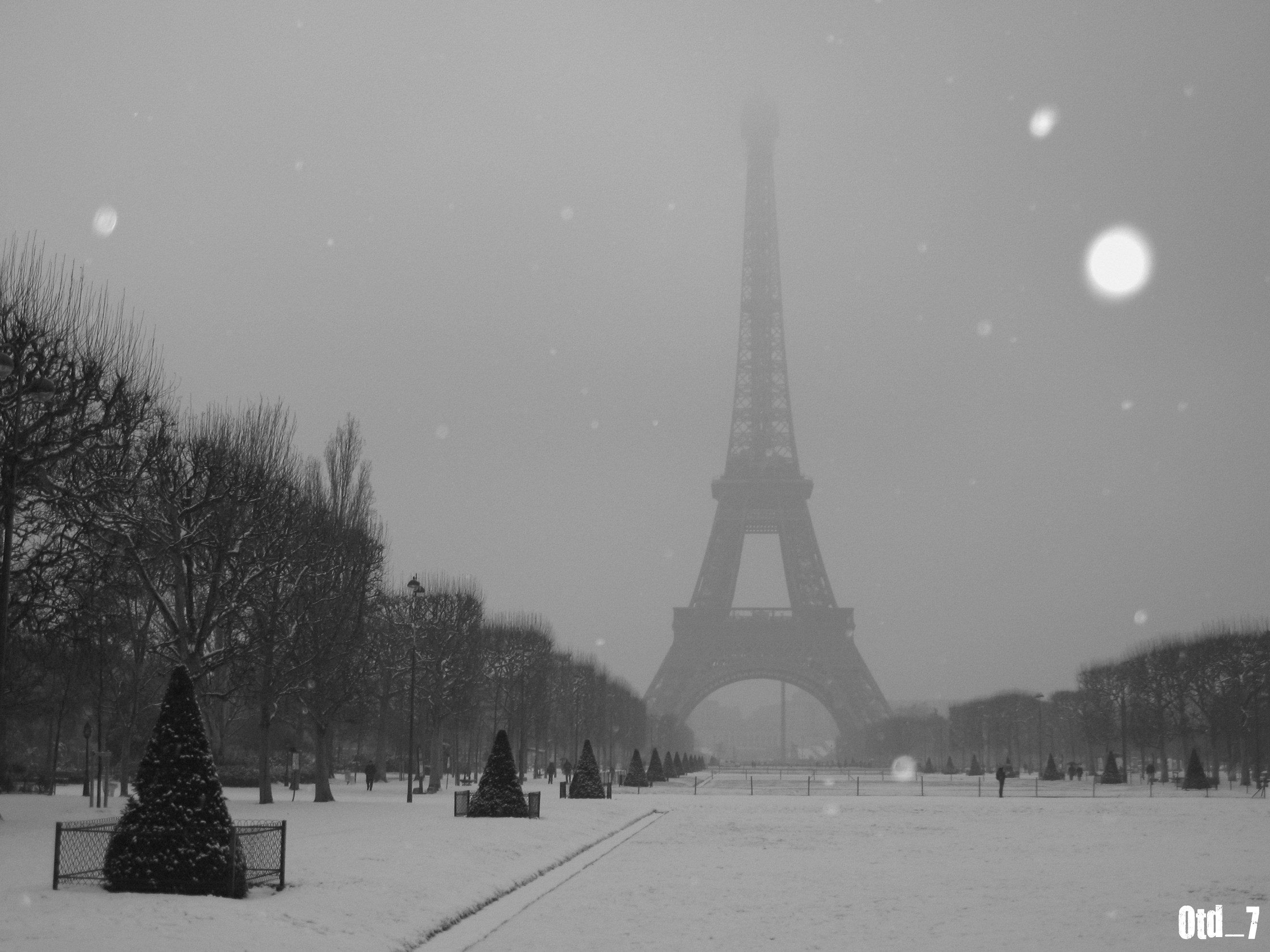 Wallpaper : Schnee, Winter, Snow, Paris, France, Tower