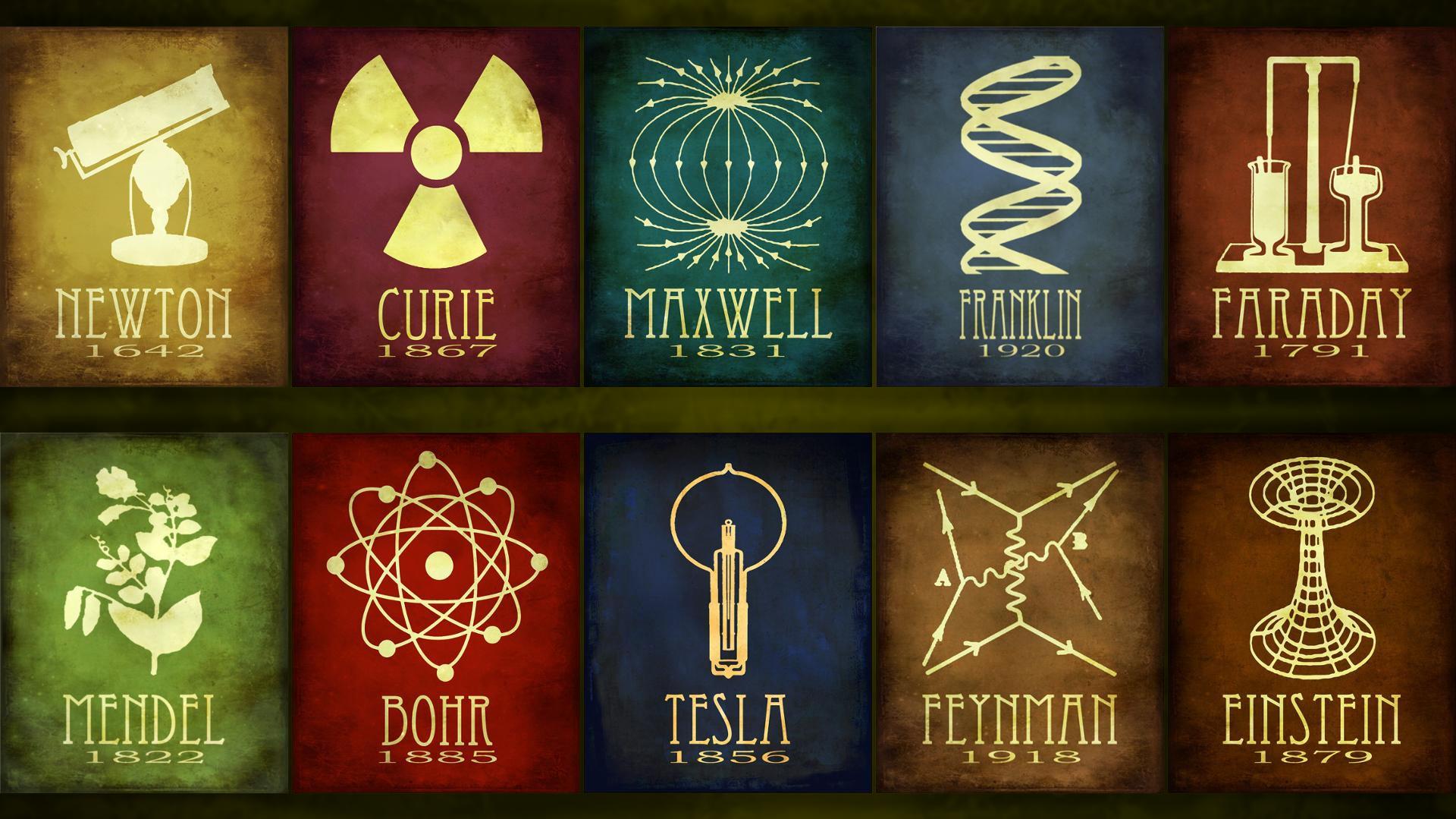 Fondos De Pantalla Ciencia Isaac Newton Faraday Niels