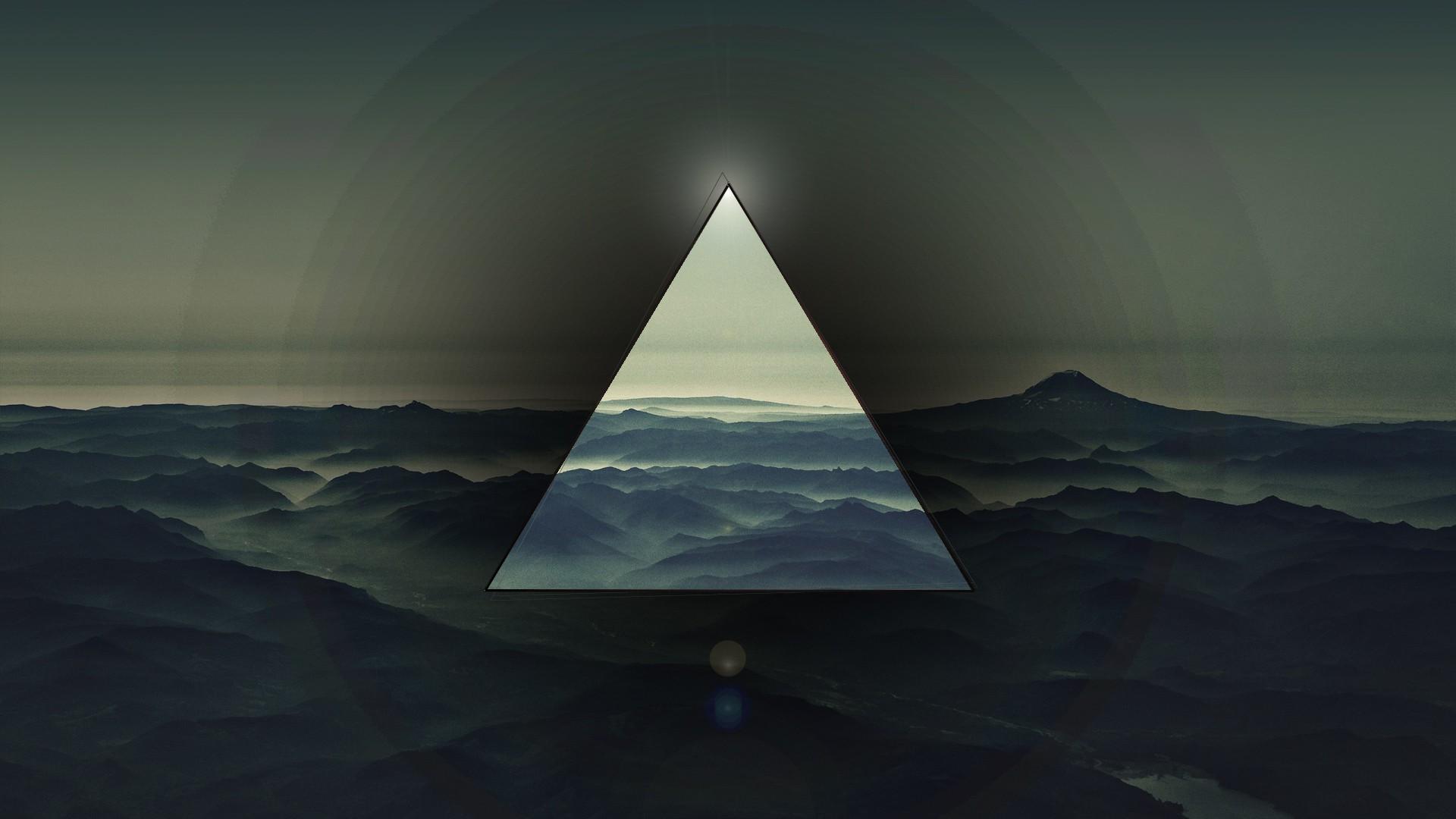 Fond d'écran : mer, abstrait, eau, ciel, calme, Triangle, horizon, Polyscape, atmosphère, océan ...