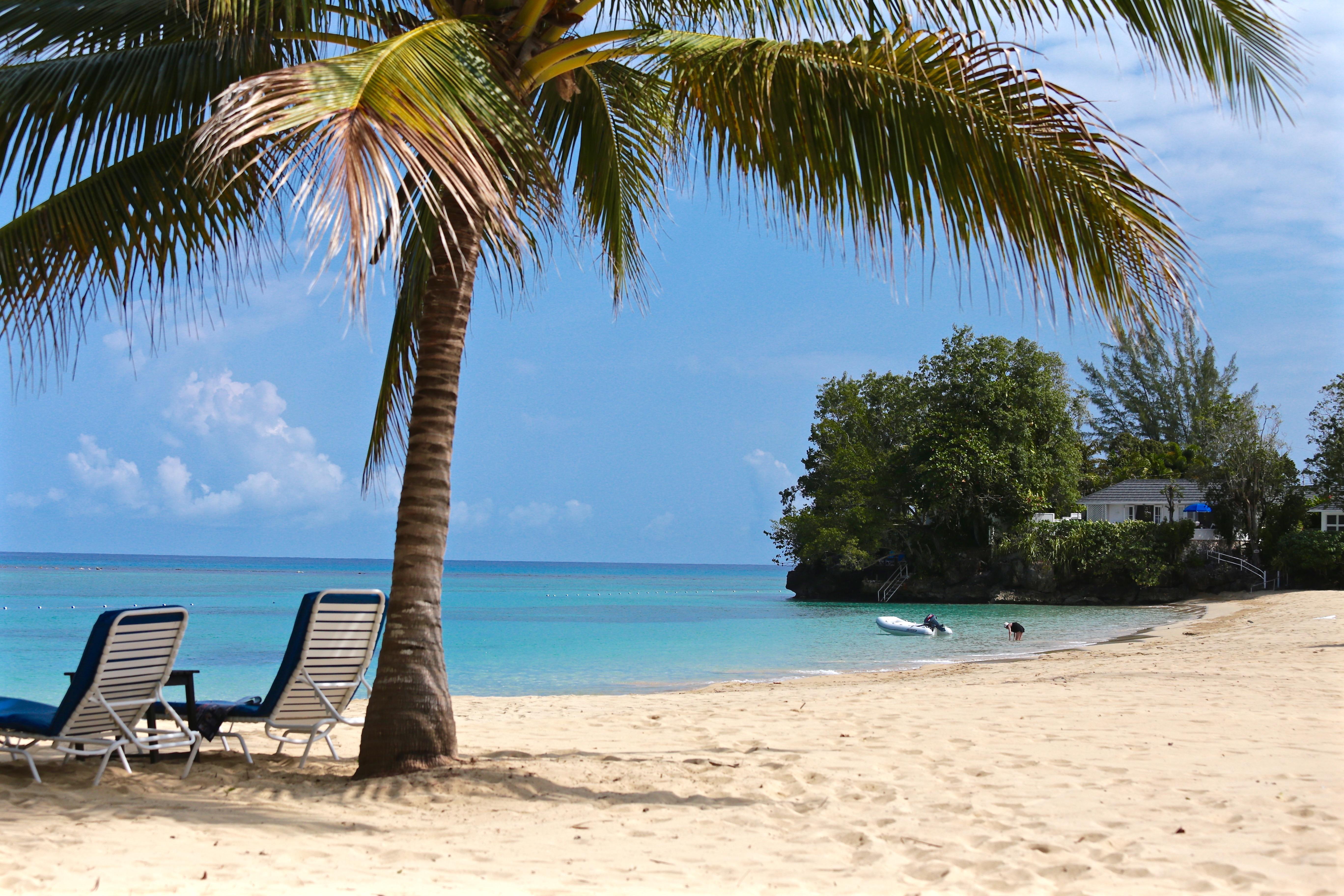 Wallpaper Sea Bay Shore Sand Sky Shadow Clouds Beach Tourism Blue Coast Resort Island Lagoon Caribbean Vacation Jamaica Leisure Ocean