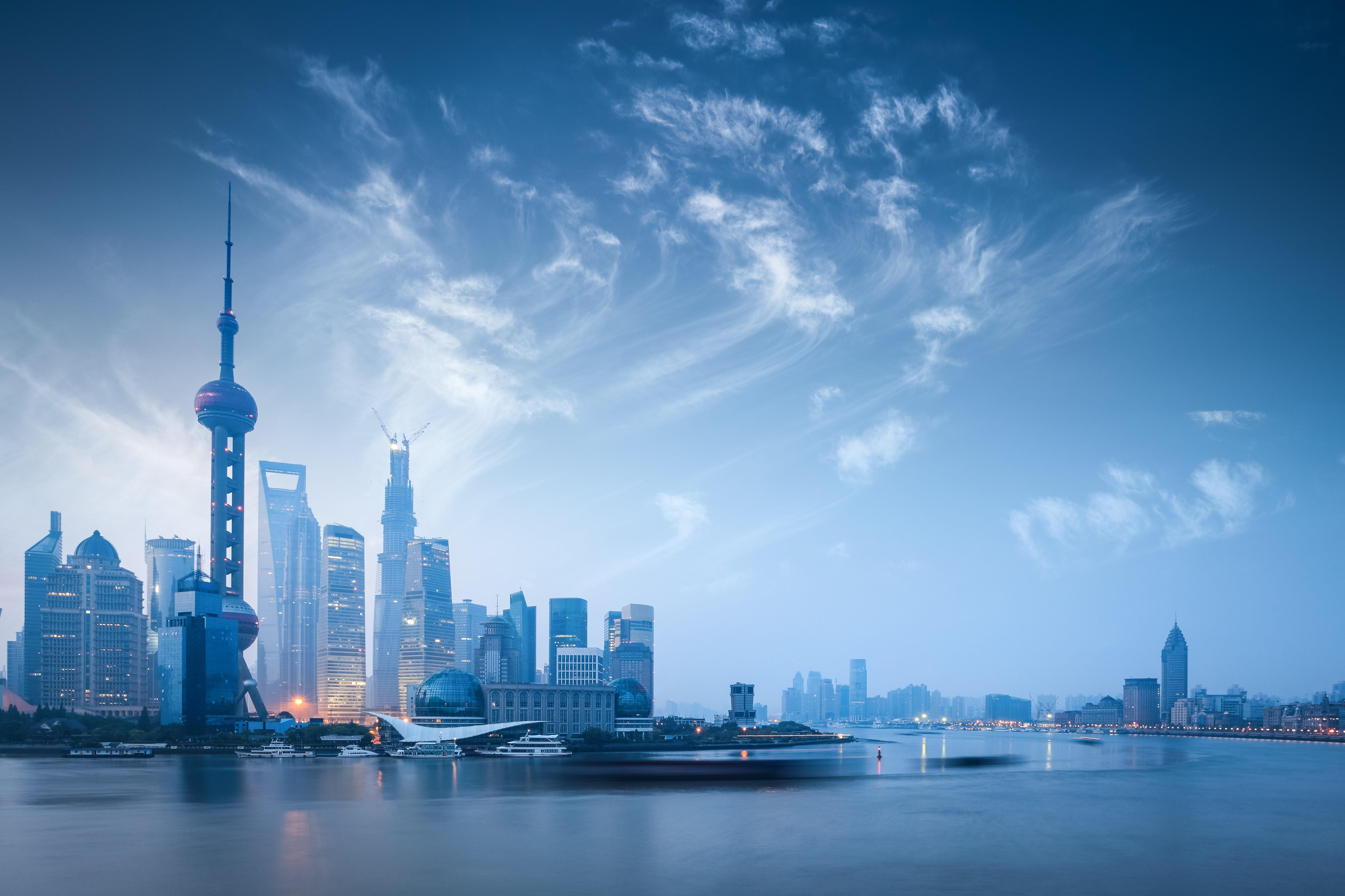 Wallpaper Sea City Cityscape Reflection Sky Skyline