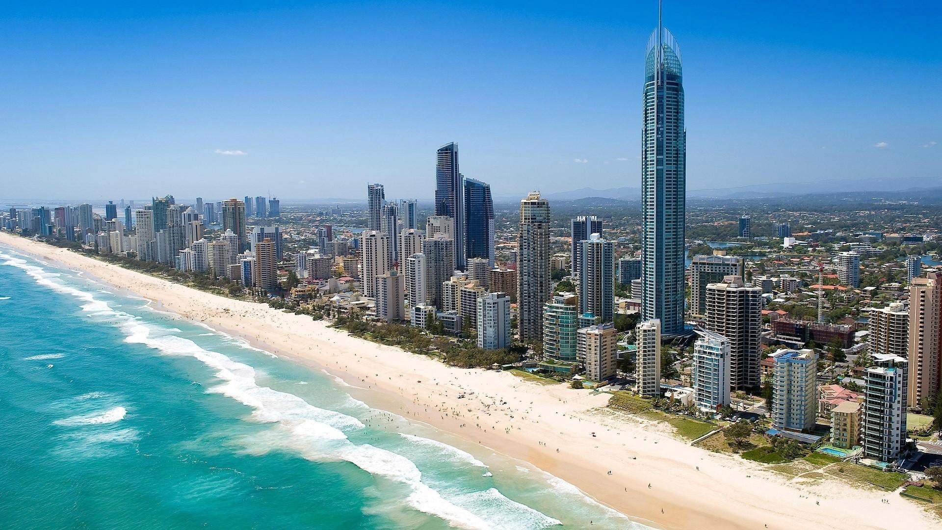 Обои Aerial, Gold Coast Skyline, queensland, Australia. Города foto 8