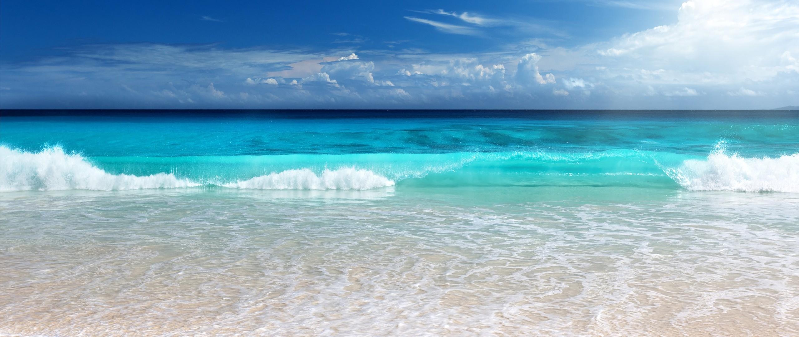 Wallpaper Sea Nature Shore Photography Beach Coast Horizon 2560x1080 Ultra