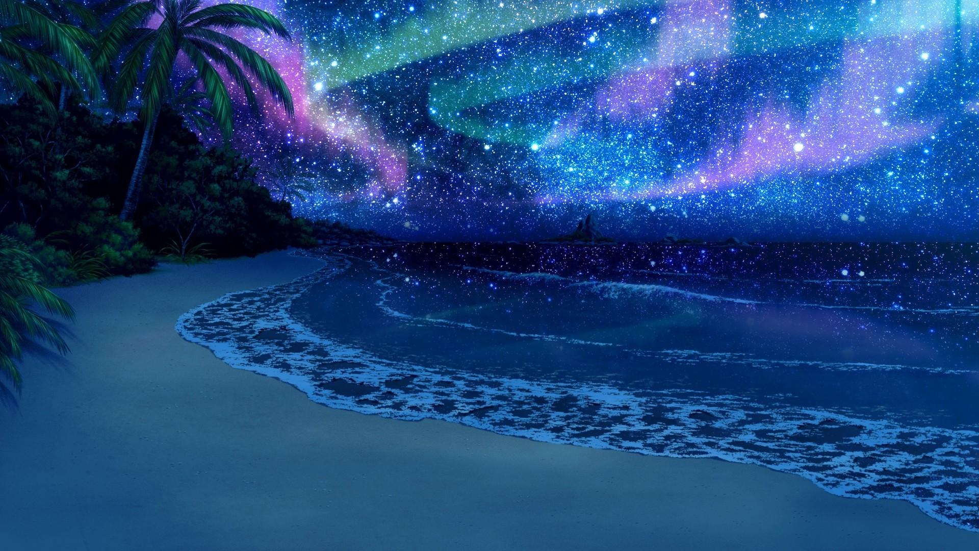 Fondos De Pantalla Del Mar: Fondos De Pantalla : Mar, Noche, Reflexión, Estrellas