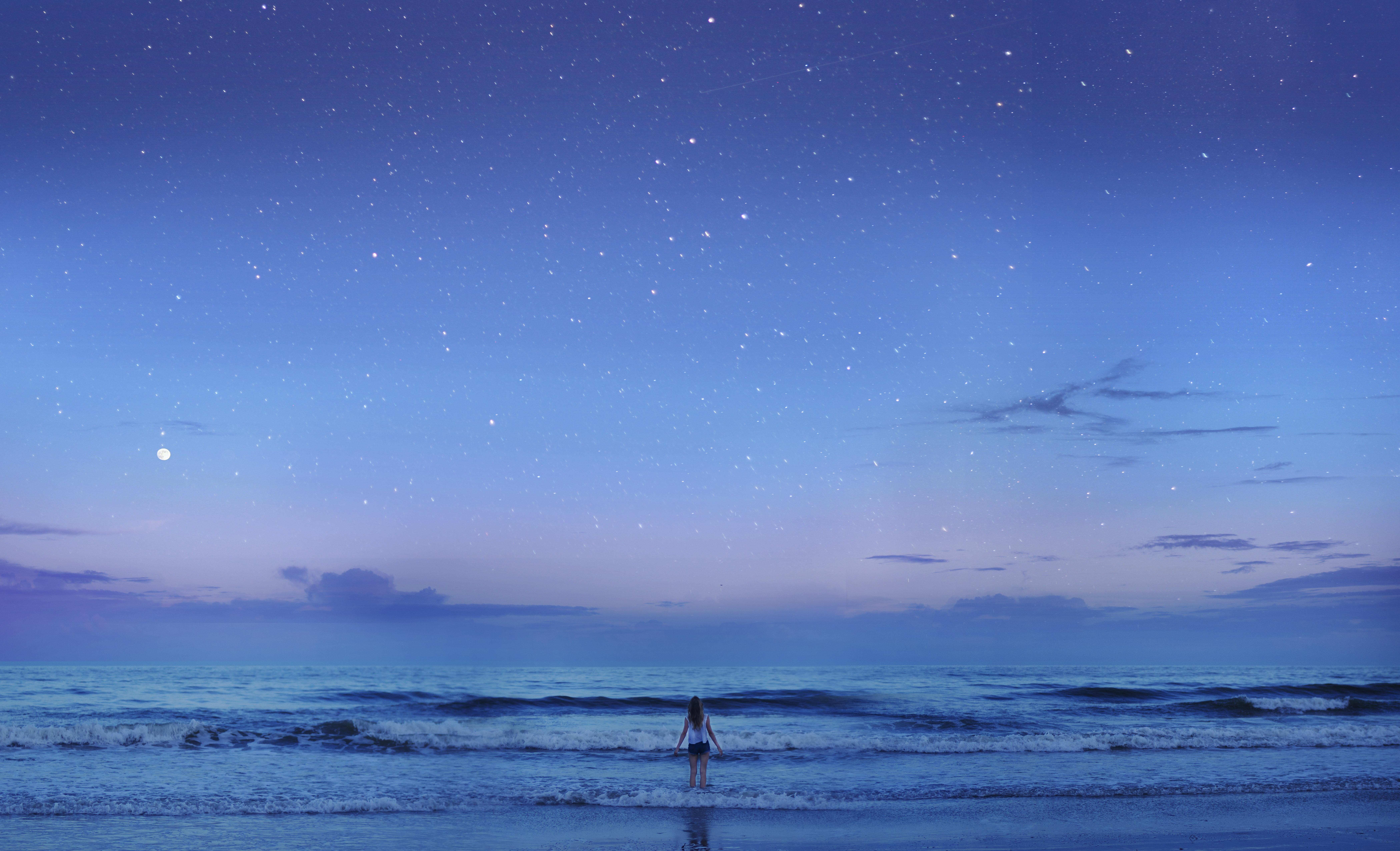 Sfondi Mare Notte Acqua Natura Puntellare Cielo Fotografia