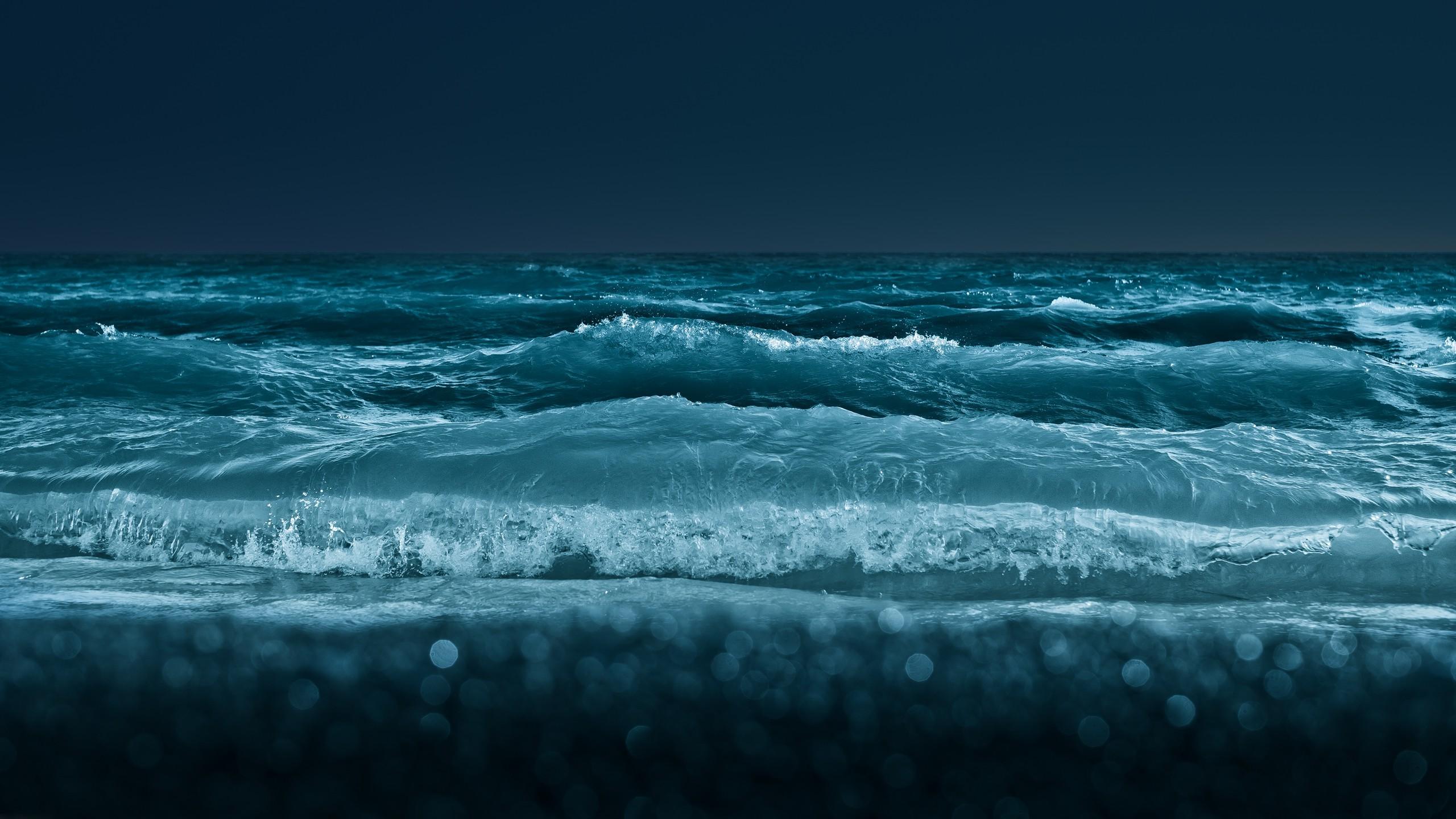 Sfondi Mare Notte Acqua Puntellare Riflessione Cielo Blu