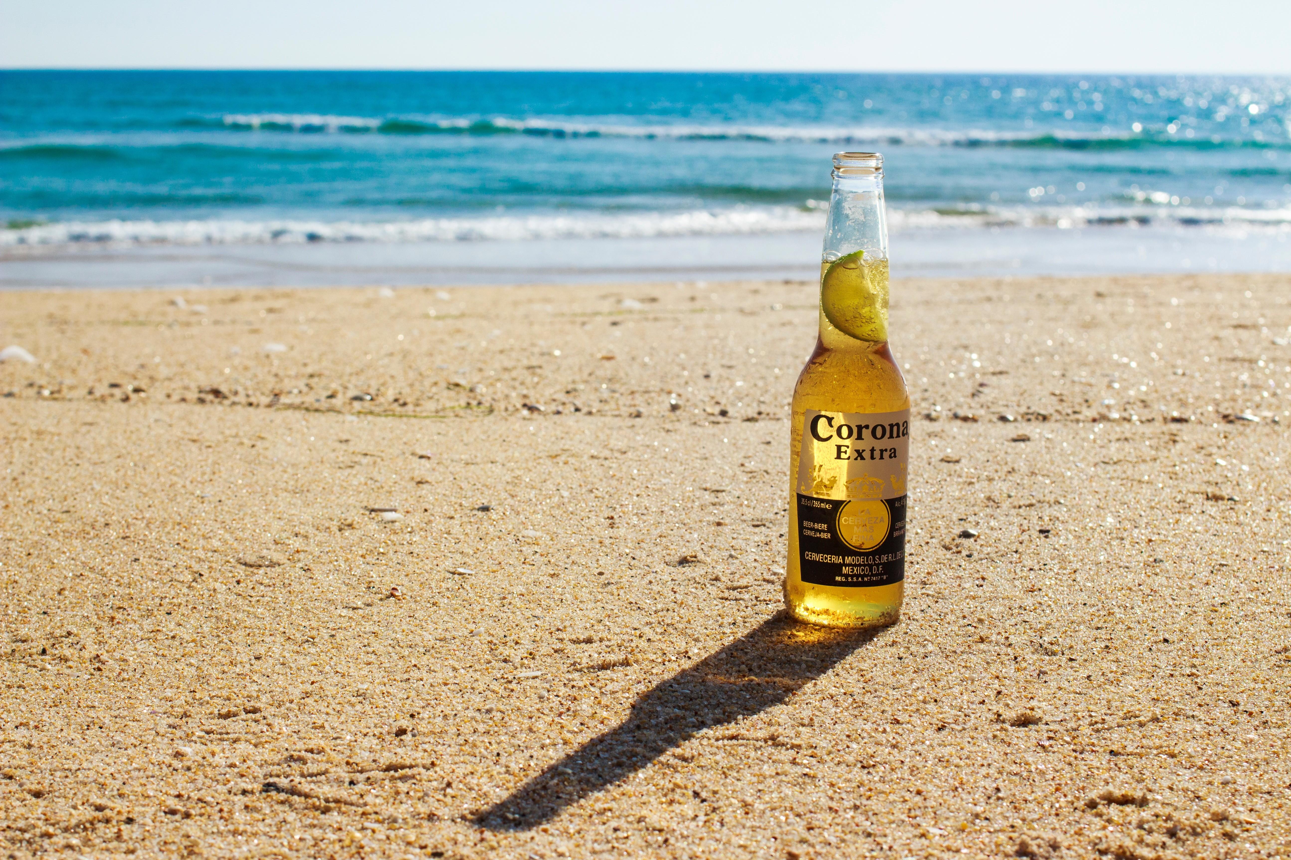Sfondi Mare Sabbia Spiaggia Bere Birra Corona Bottiglia