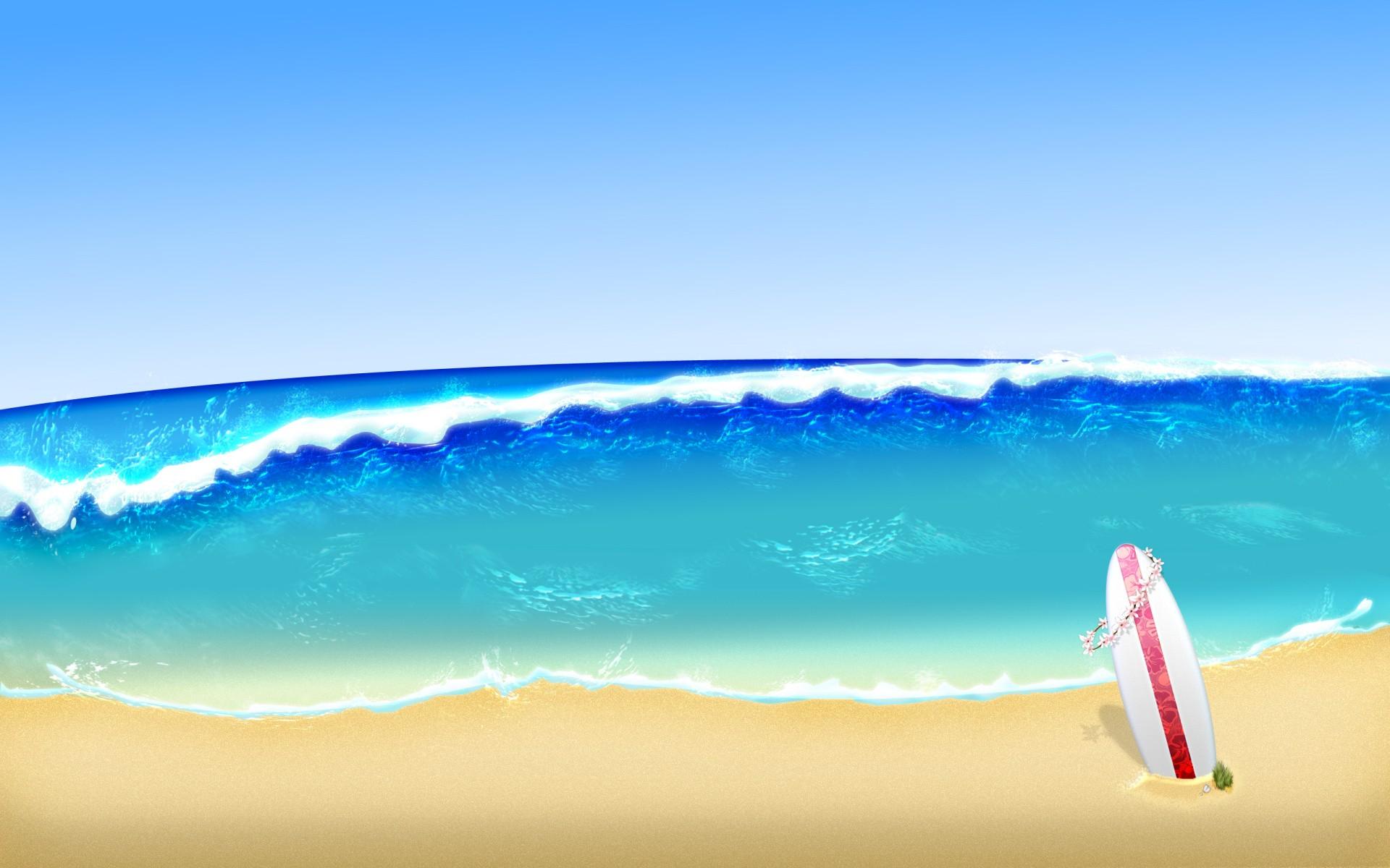 Sfondi Mare Sabbia Cielo Spiaggia Blu Tavole Da Surf Onde