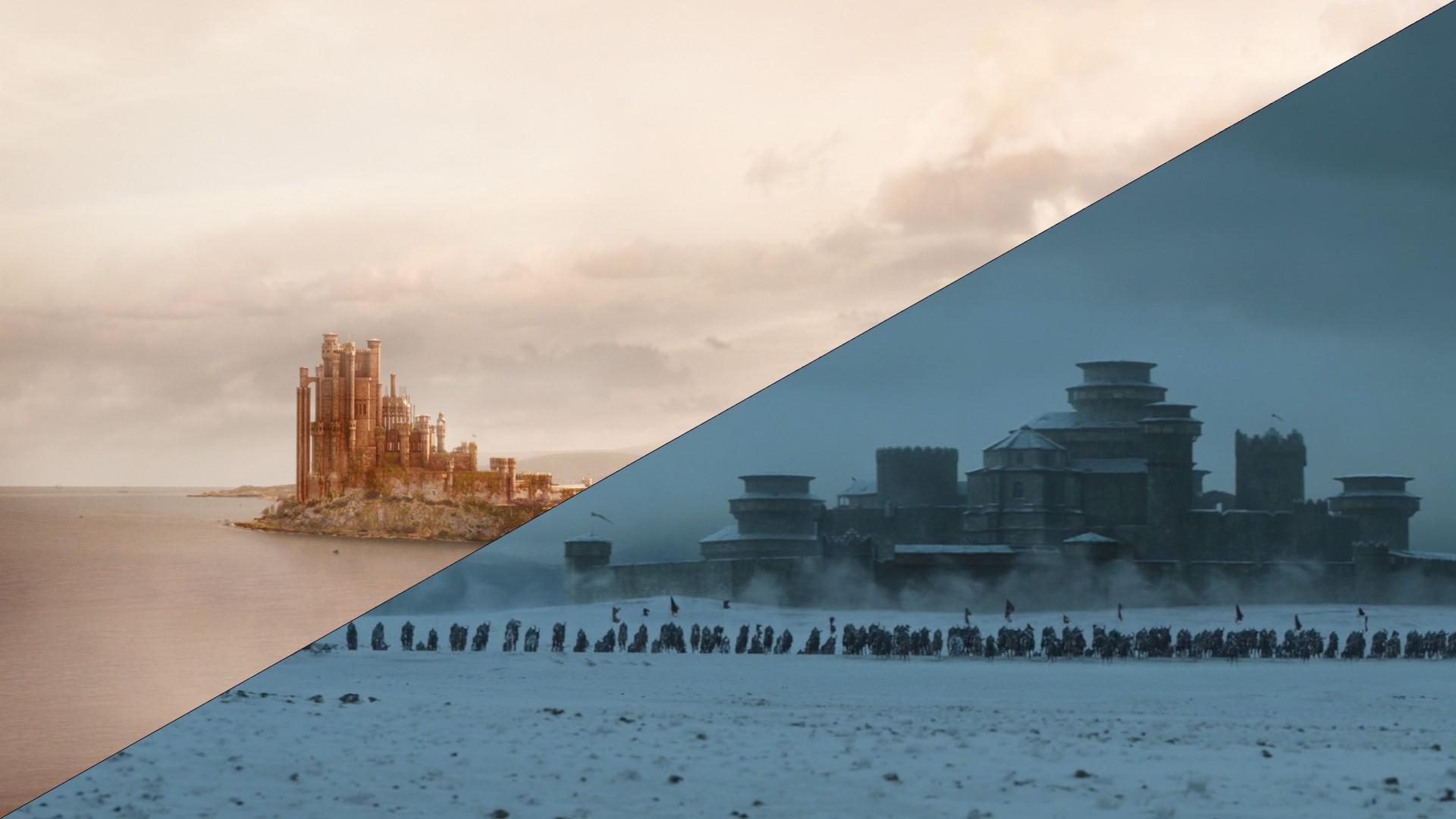 海 水 建物 反射 空 落ち着いた スカイライン 地平線 ゲーム・オブ・スローンズ ハウススターク