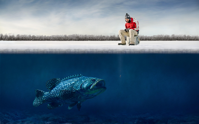 обои для рабочего стола на тему рыбалка № 1094106  скачать