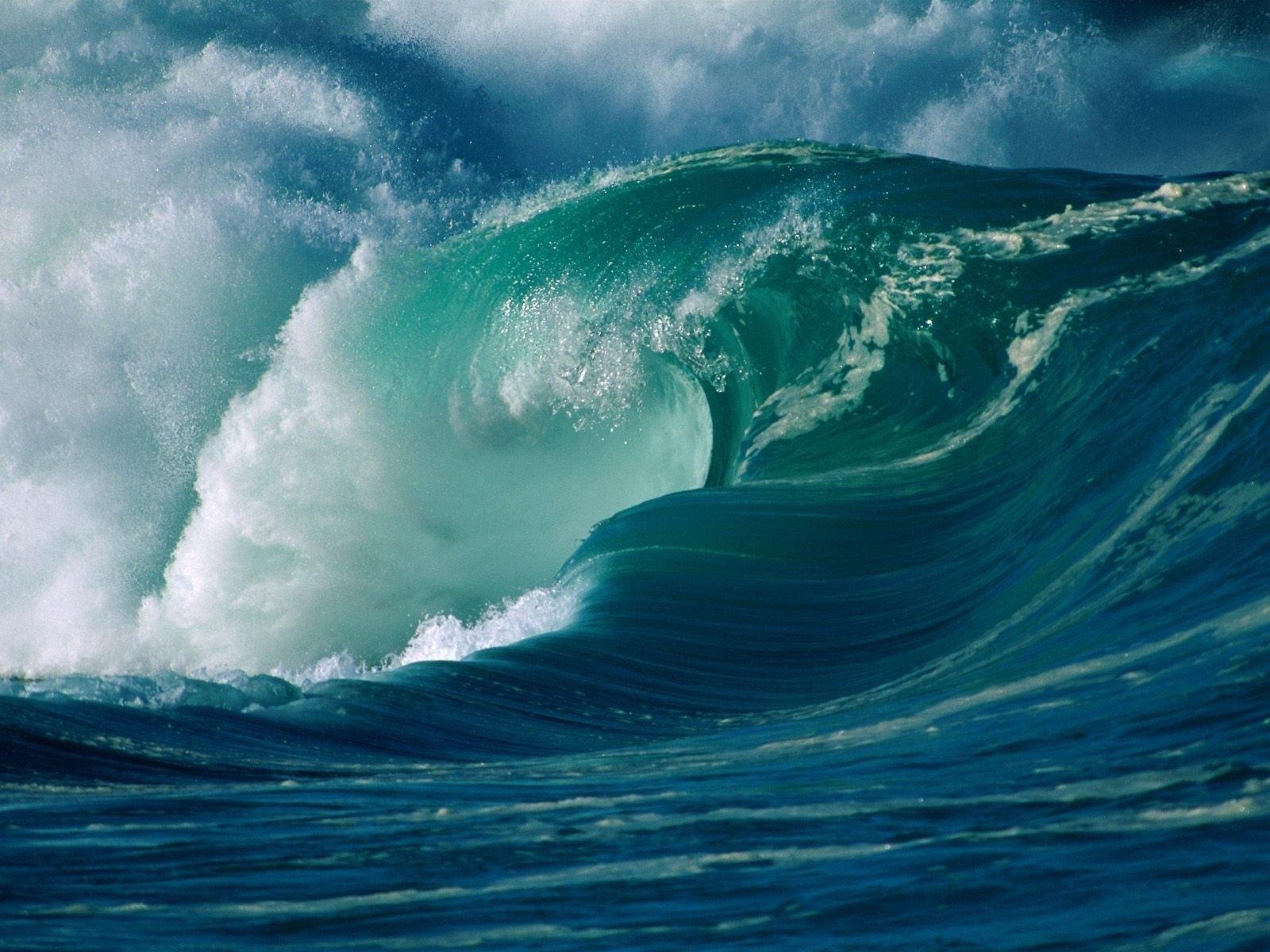 фото океанических волн ровнее поверхность