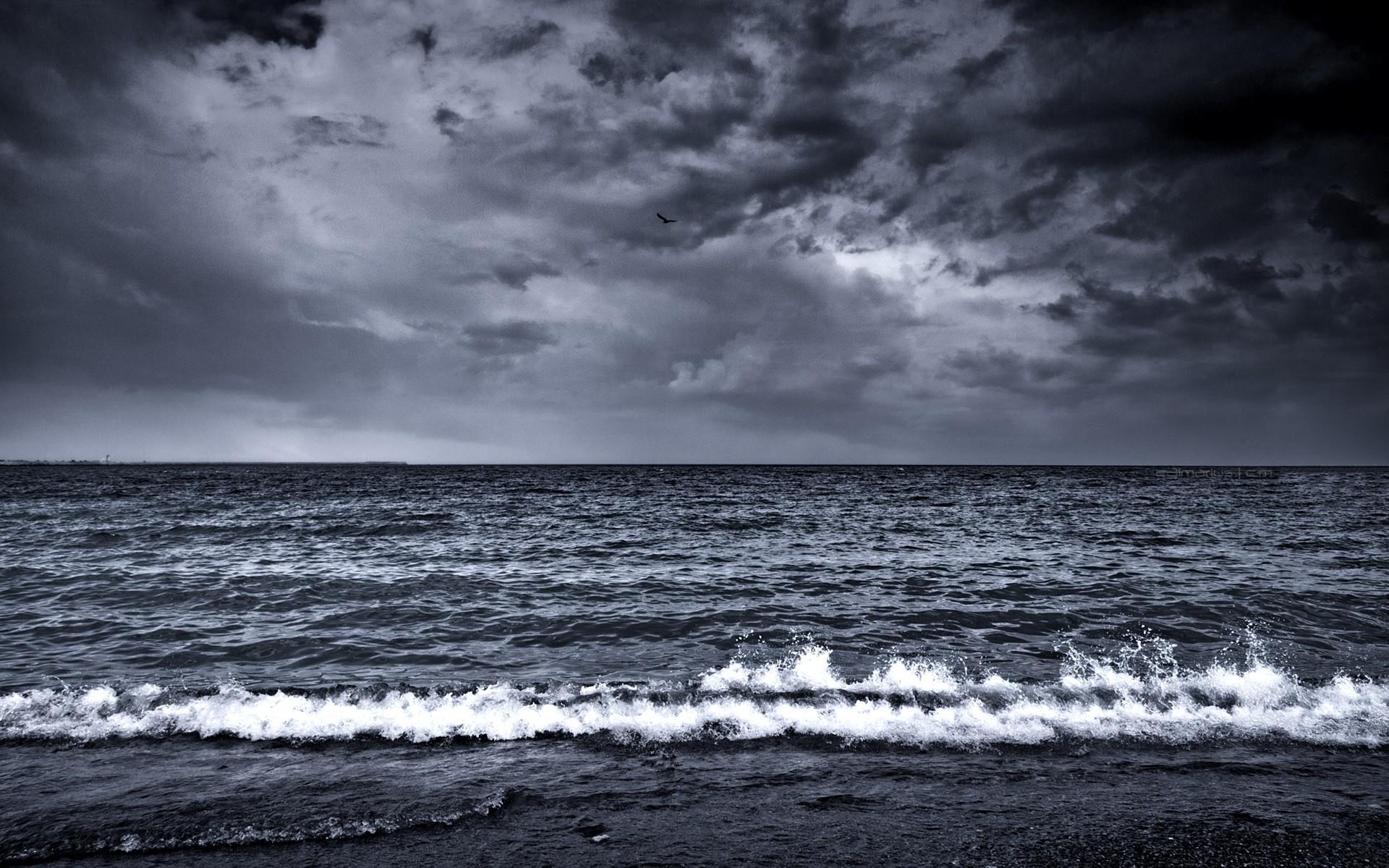 Sfondi Mare Onde Surf Schiuma Bianco E Nero 1920x1200