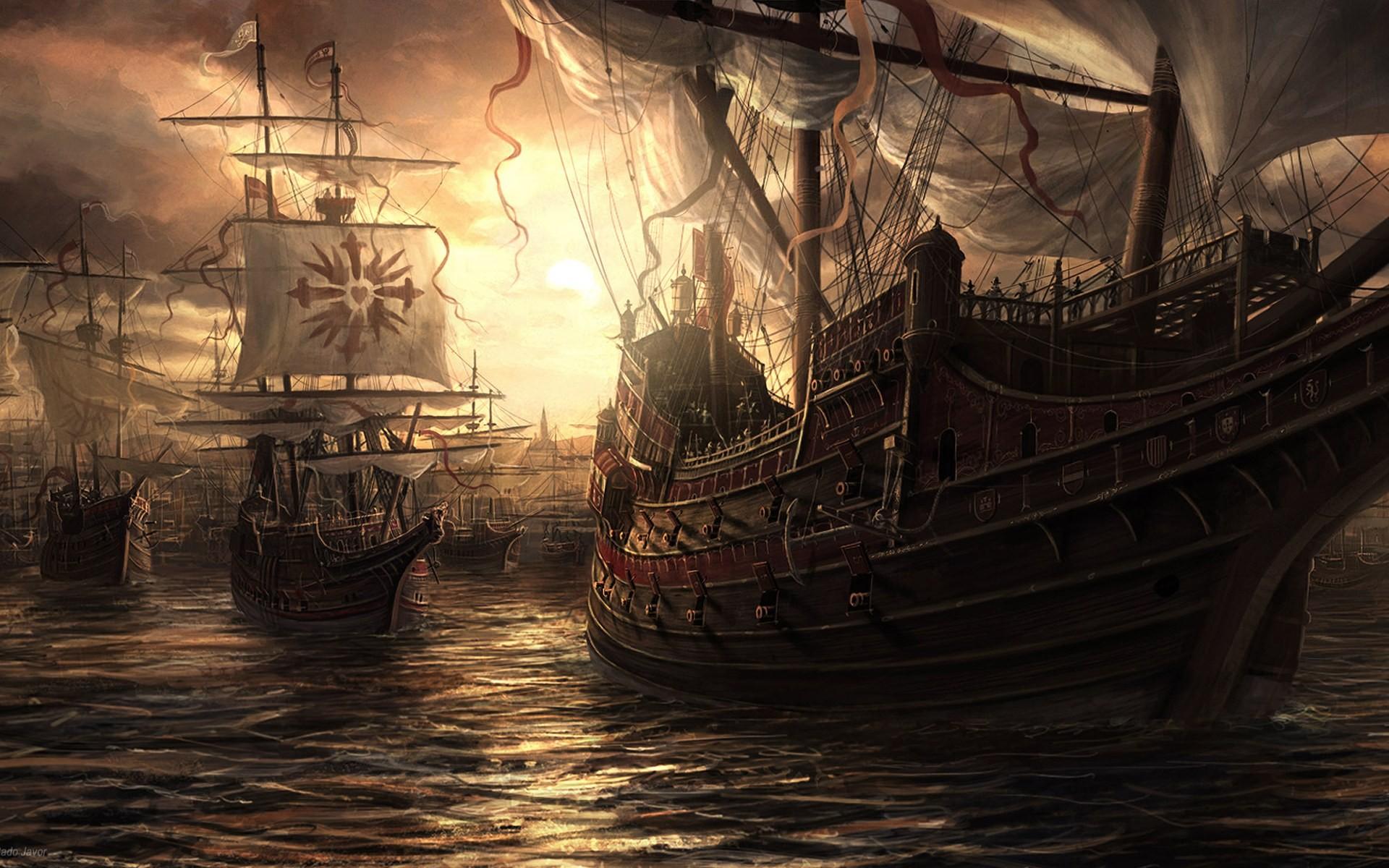 пара спит пиратские корабли фото картинки фэнтези рабочий стол картинки