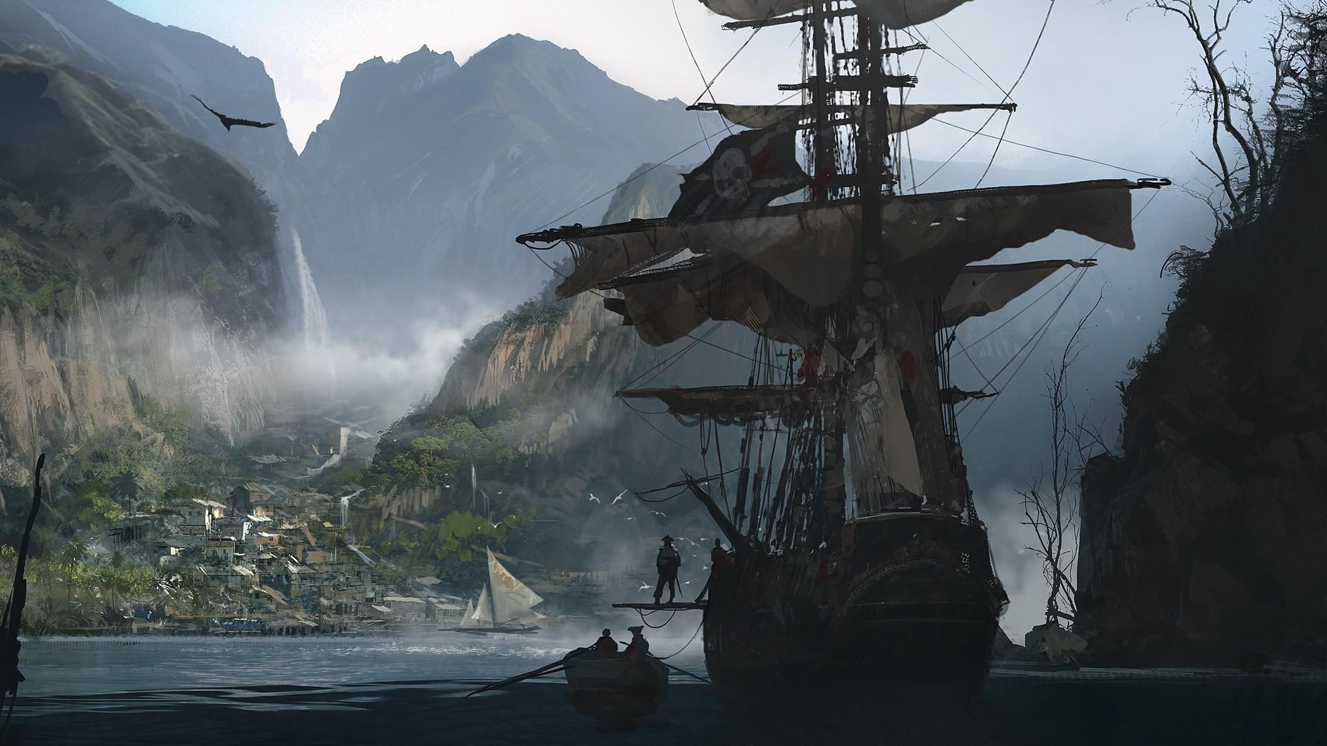 Fond D Ecran Les Pirates Bataille Navale Navire De Guerre Montagne Capture D Ecran 1920x1080 Px Assassins Creed Navire Naval 1920x1080 Wallhaven 847492 Fond D Ecran Wallhere