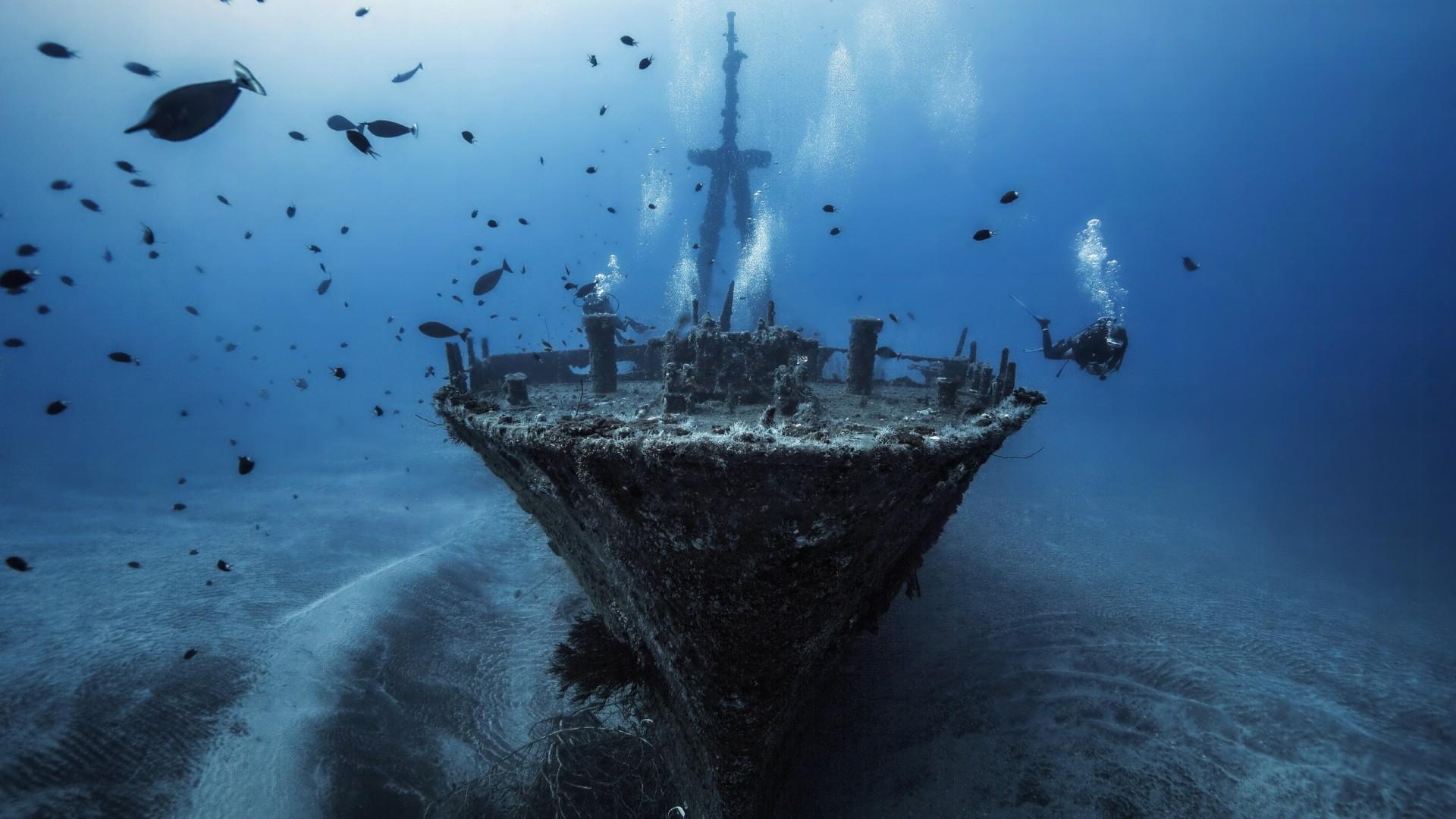 Затонувший корабль картинки на рабочий стол
