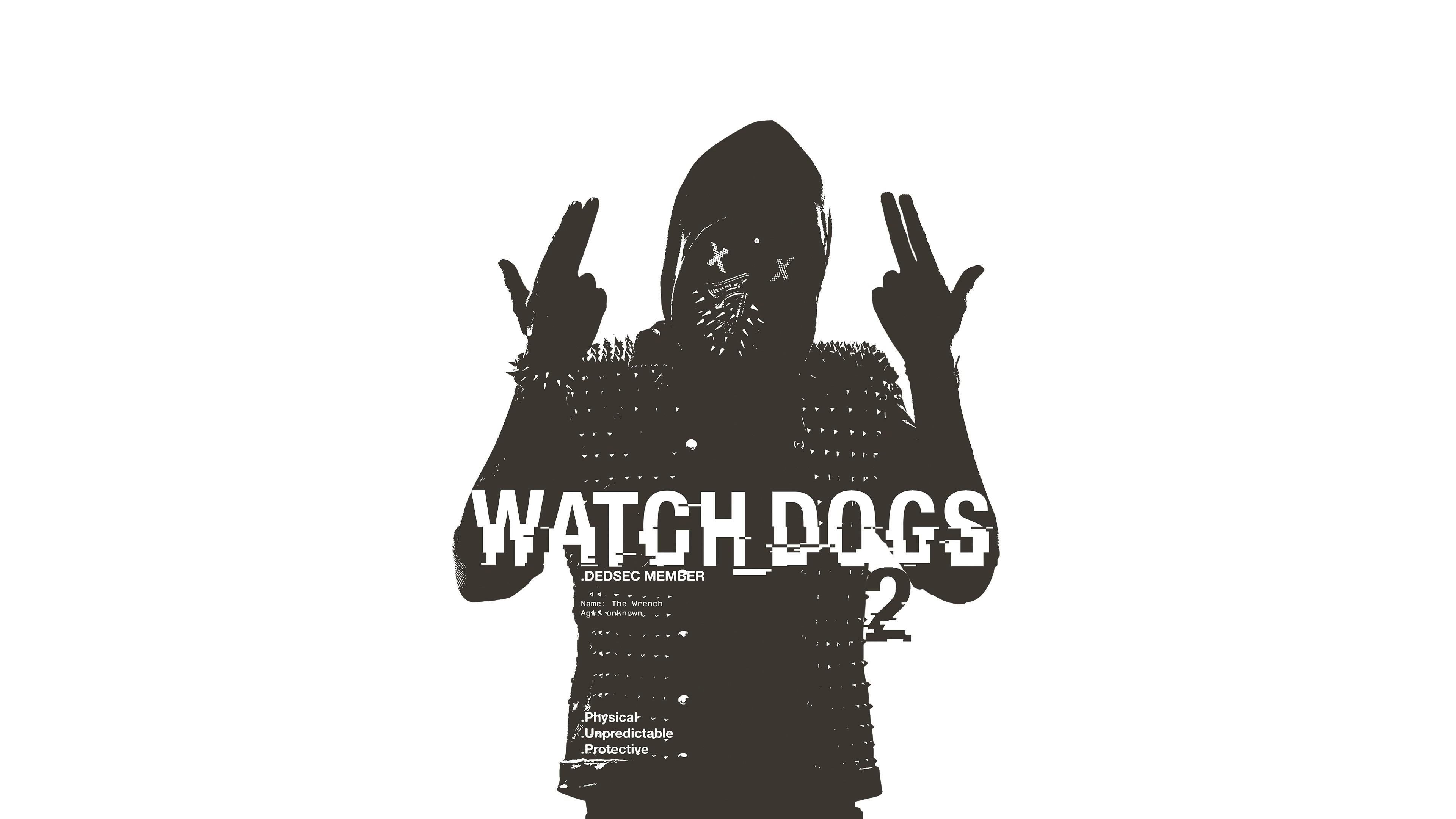 Wallpaper Silhouette Logo Graphic Design Ubisoft Watch Dogs 2