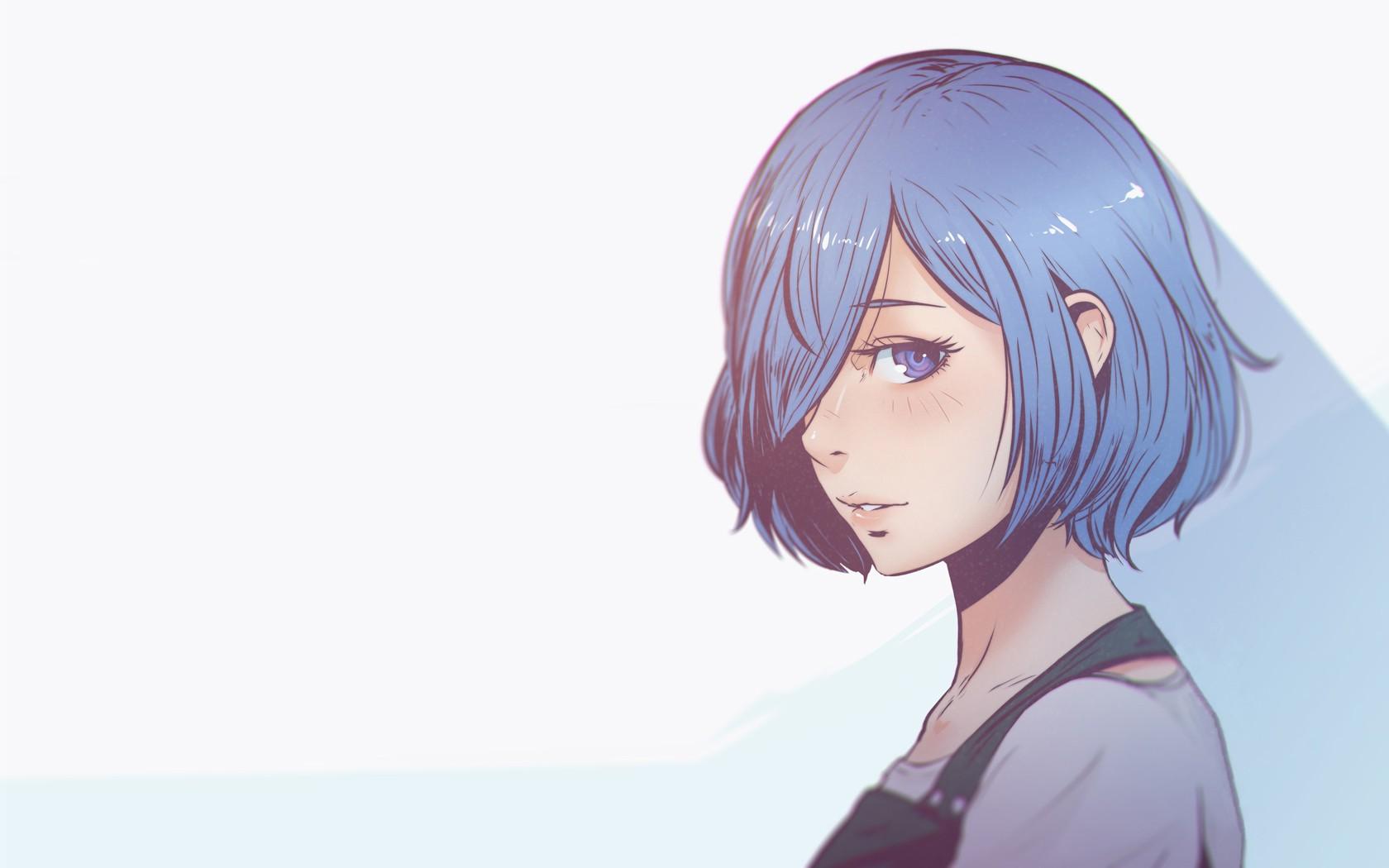 Wallpaper Latar Belakang Yang Sederhana Gadis Anime