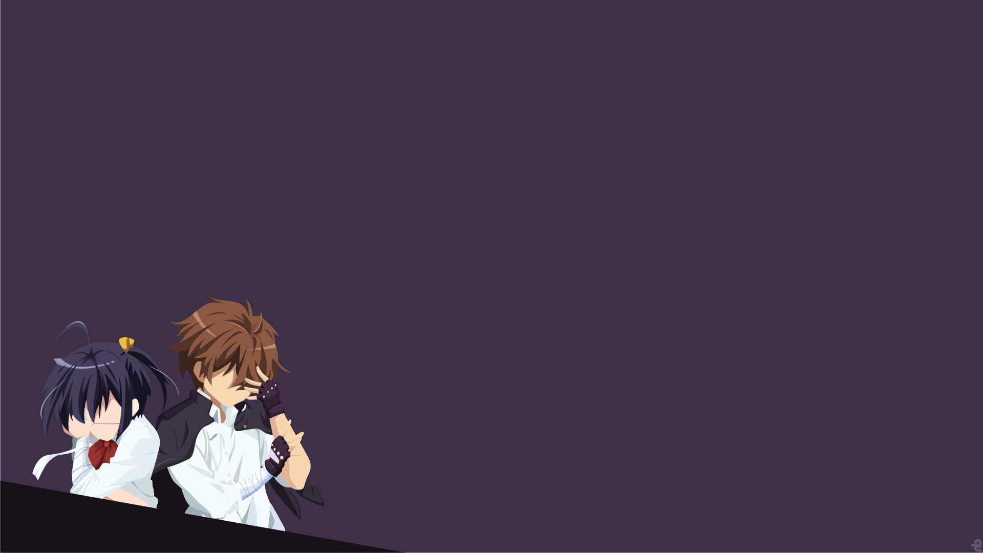 Masaüstü Basit Arka Plan Anime Girls Minimalizm Resim Mor Arka