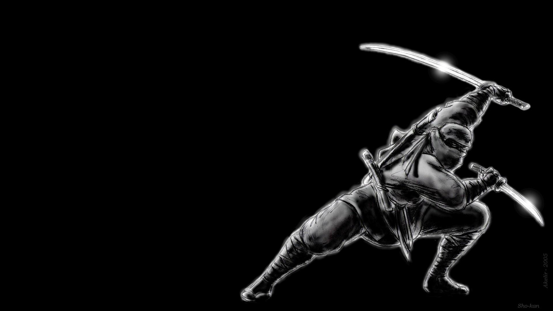 Wallpaper Simple Background Artwork Ninjas Warrior