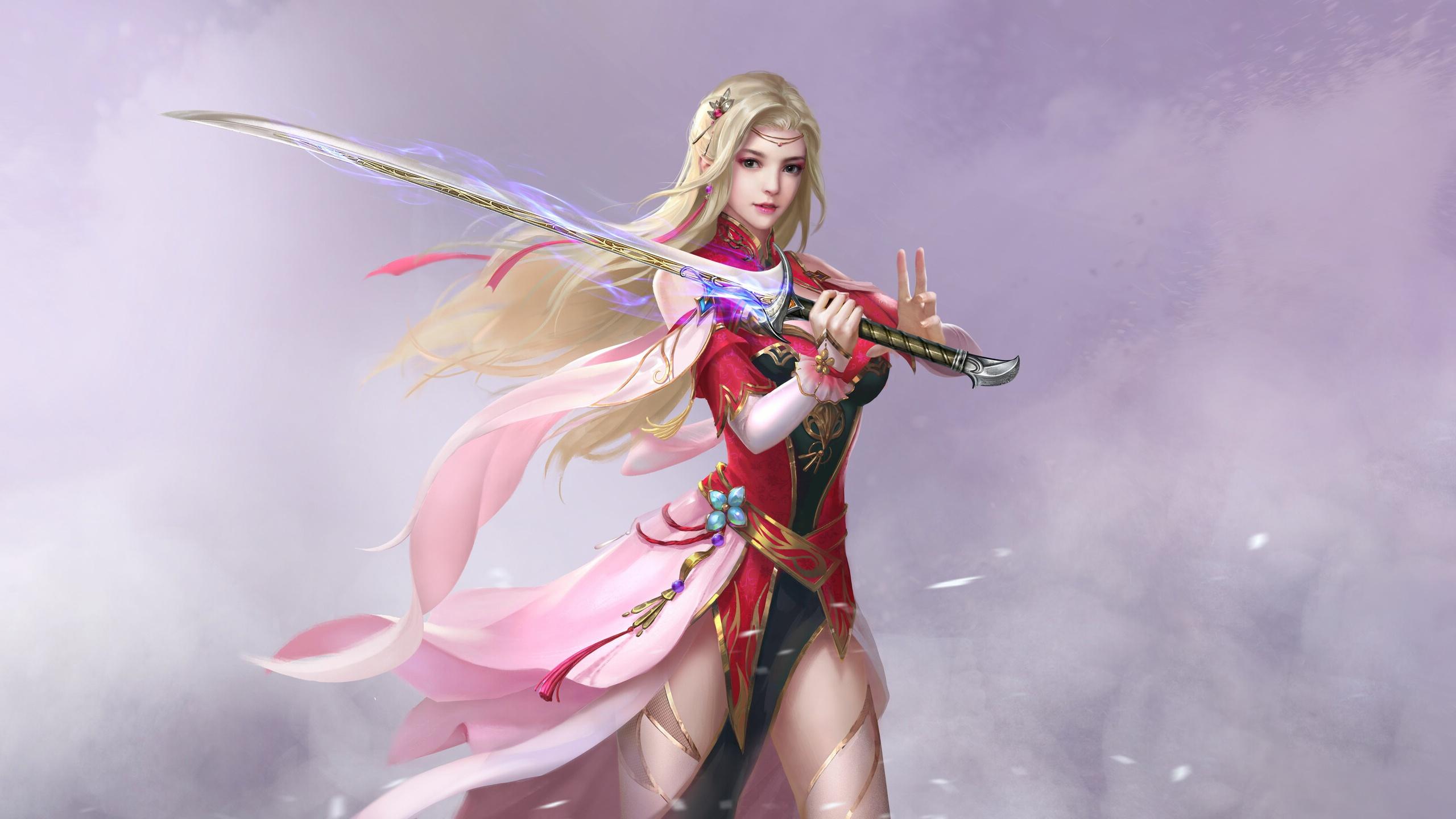 Девушка с мечом обои на рабочий стол
