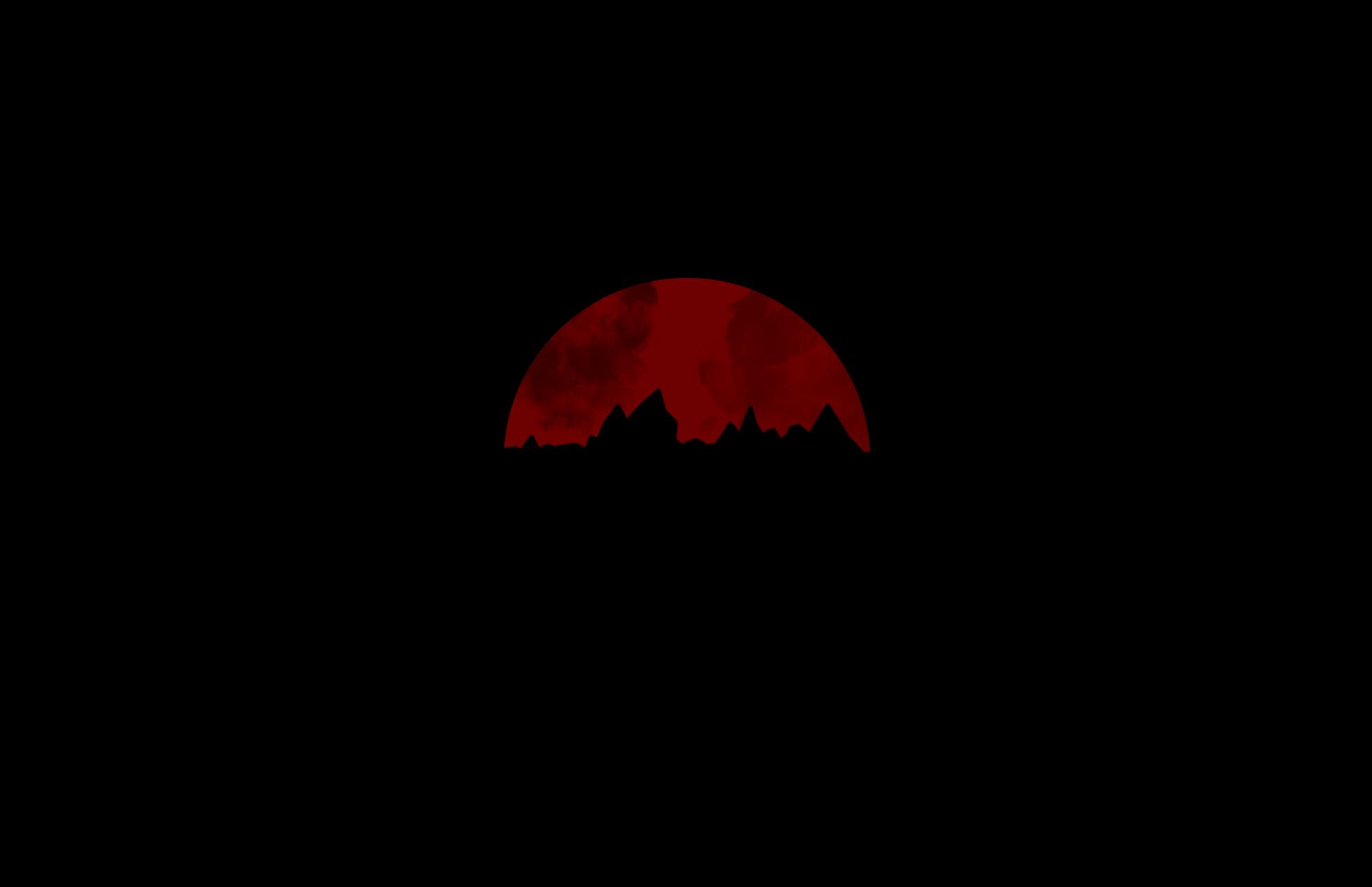 Wallpaper Simple Minimalism Black Background Red Dark Artwork Red Moon 1980x1280 Darkredman 1820829 Hd Wallpapers Wallhere