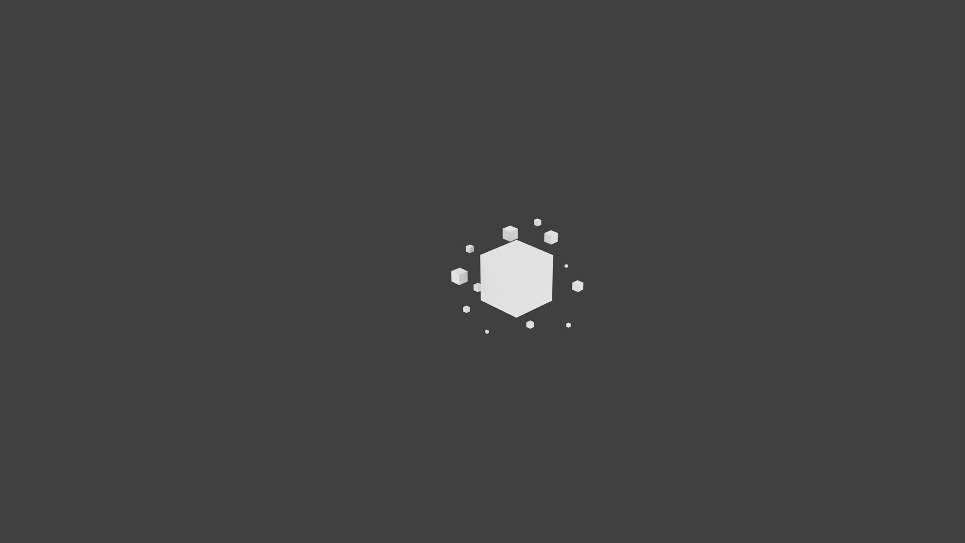 デスクトップ壁紙 ミニマリズム 立方体 単純な背景 3d 1920x1080