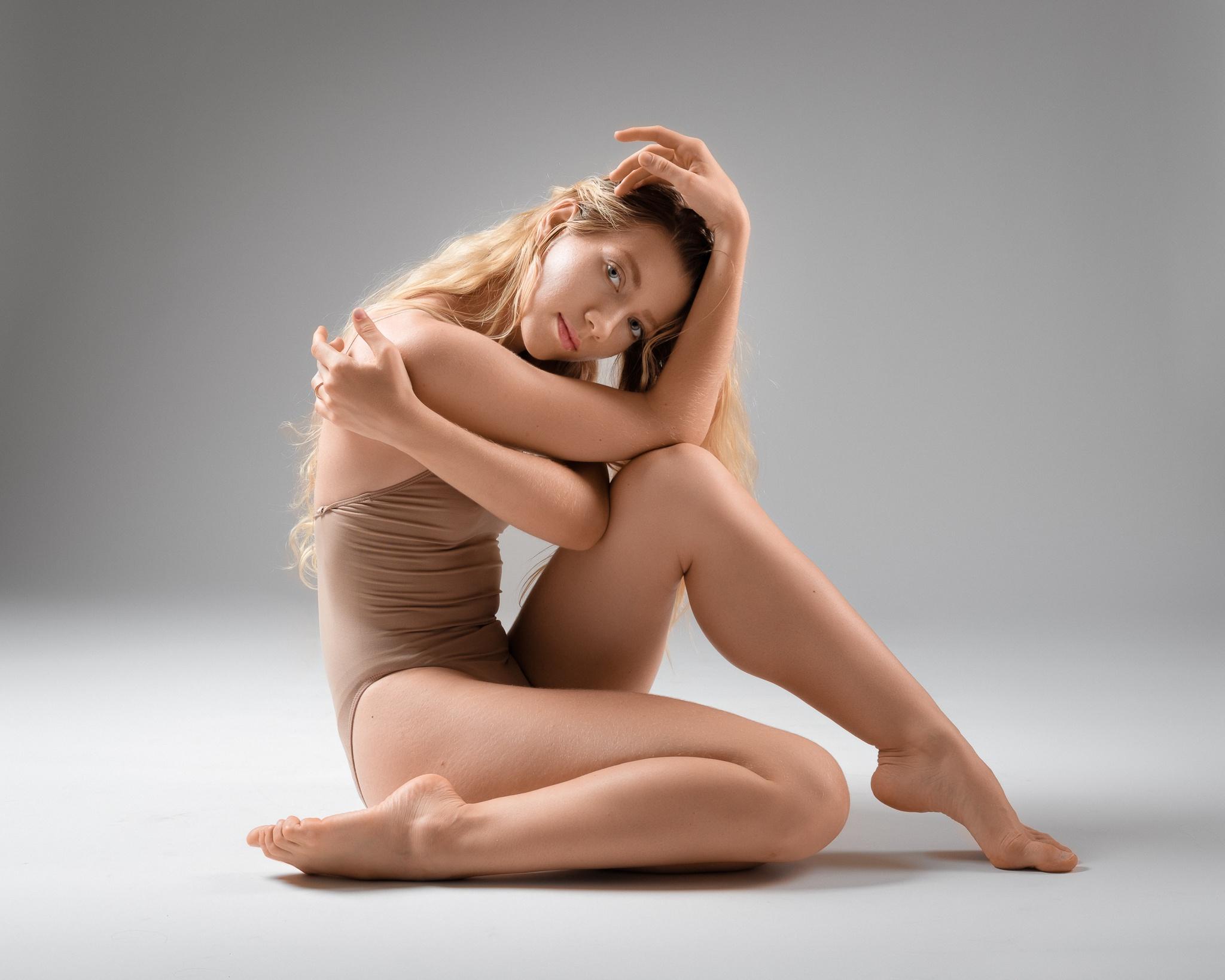 Ноги Женщины Обнажены