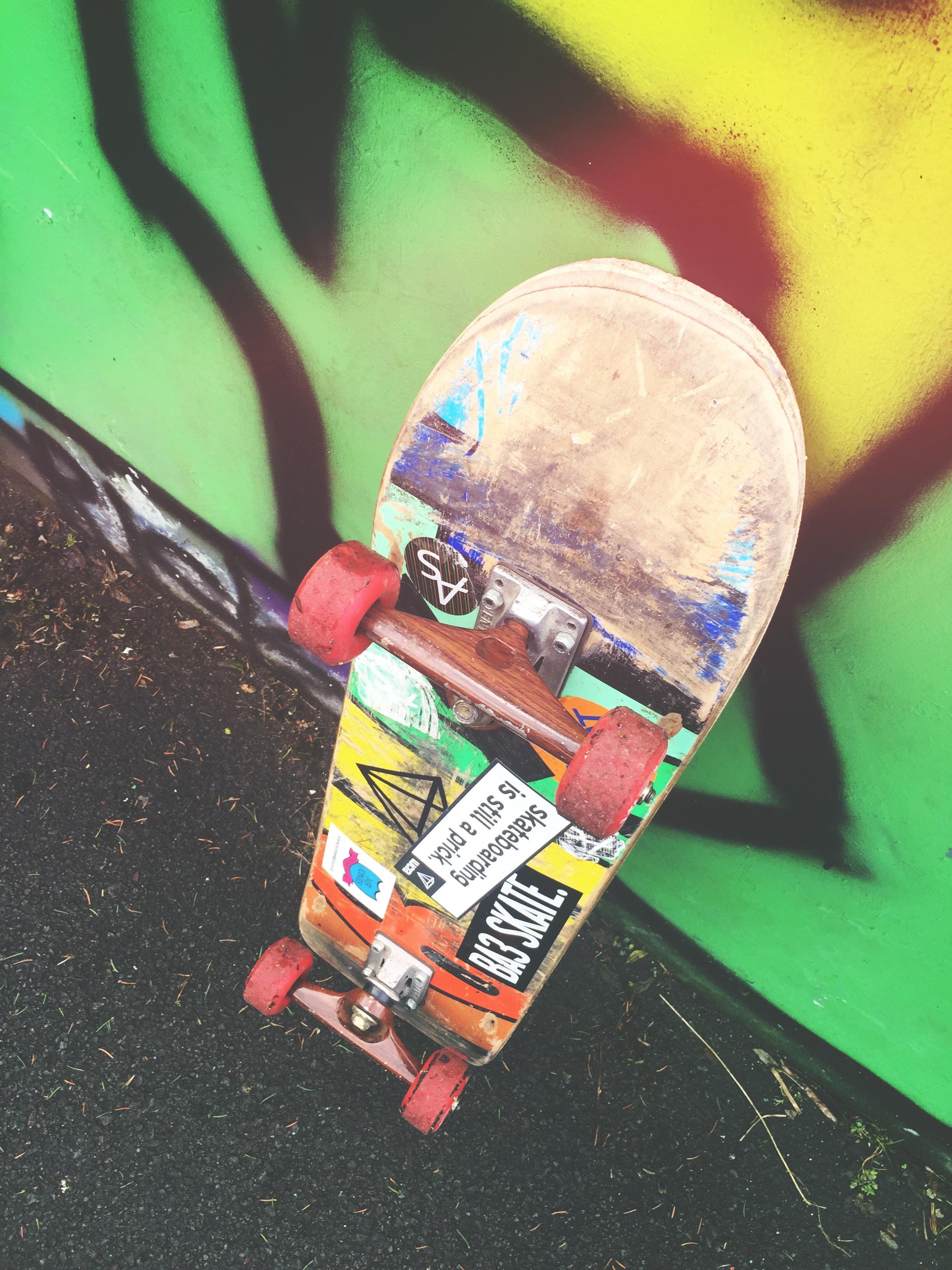 skateboard kola UMĚNÍ vícebarevný 17beb4260a