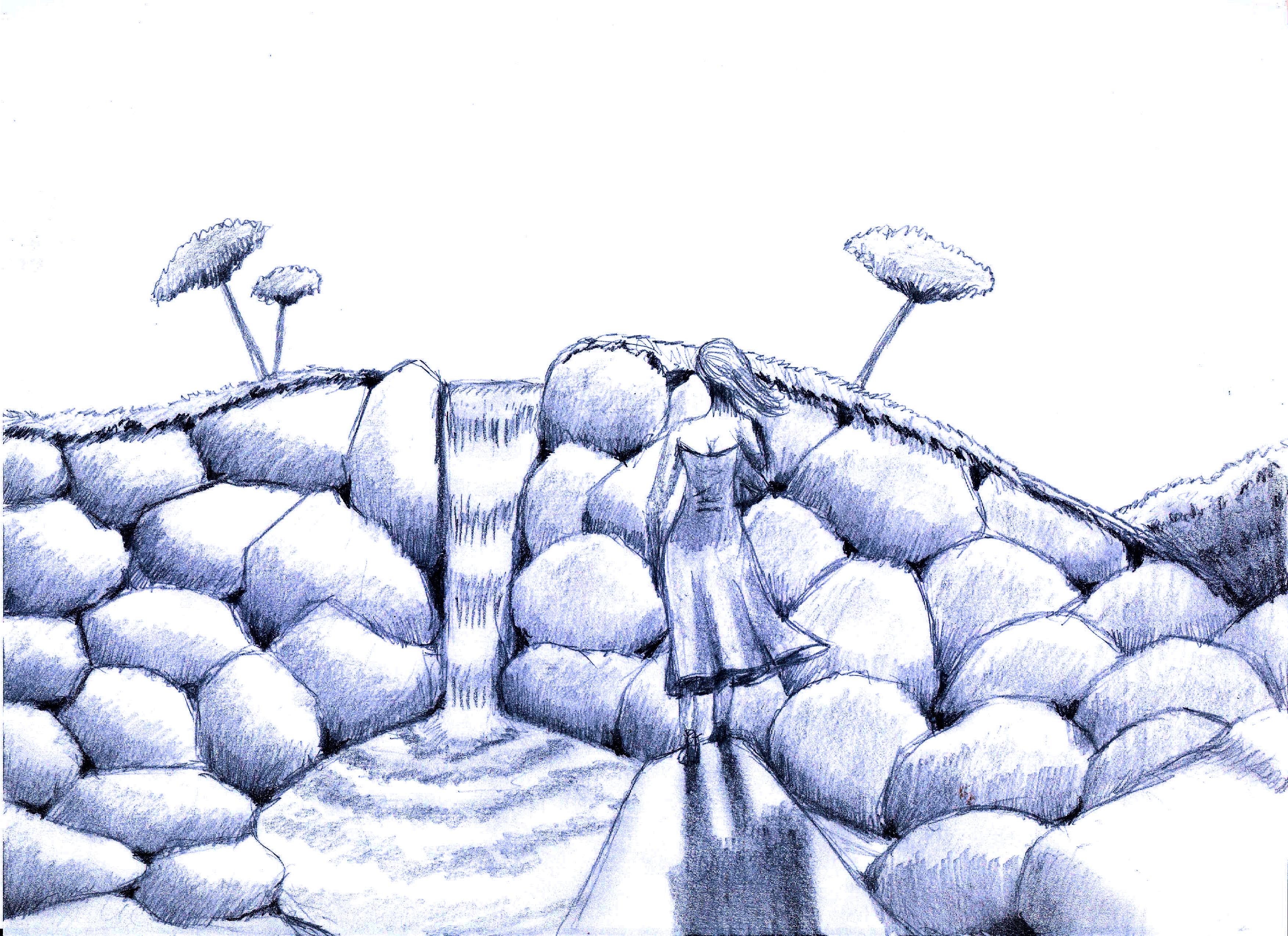 Wallpaper Sketsa Pemandangan 3507x2550 MrChom