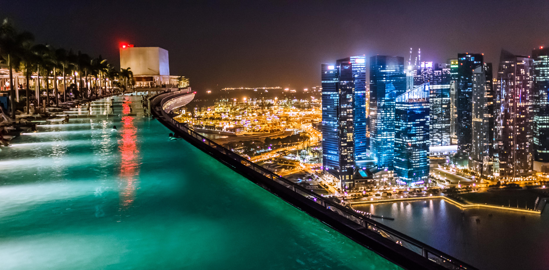 Марина бей сингапур бассейн на крыше фото