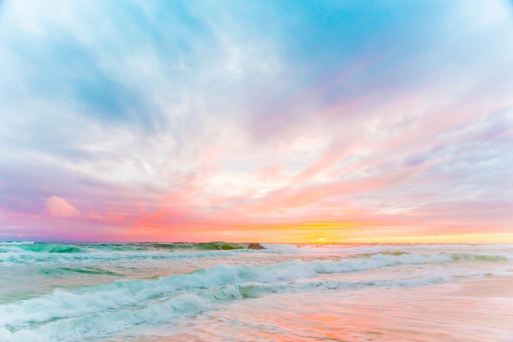 Wallpaper Sky Sea Horizon Ocean Shore Calm Sunrise