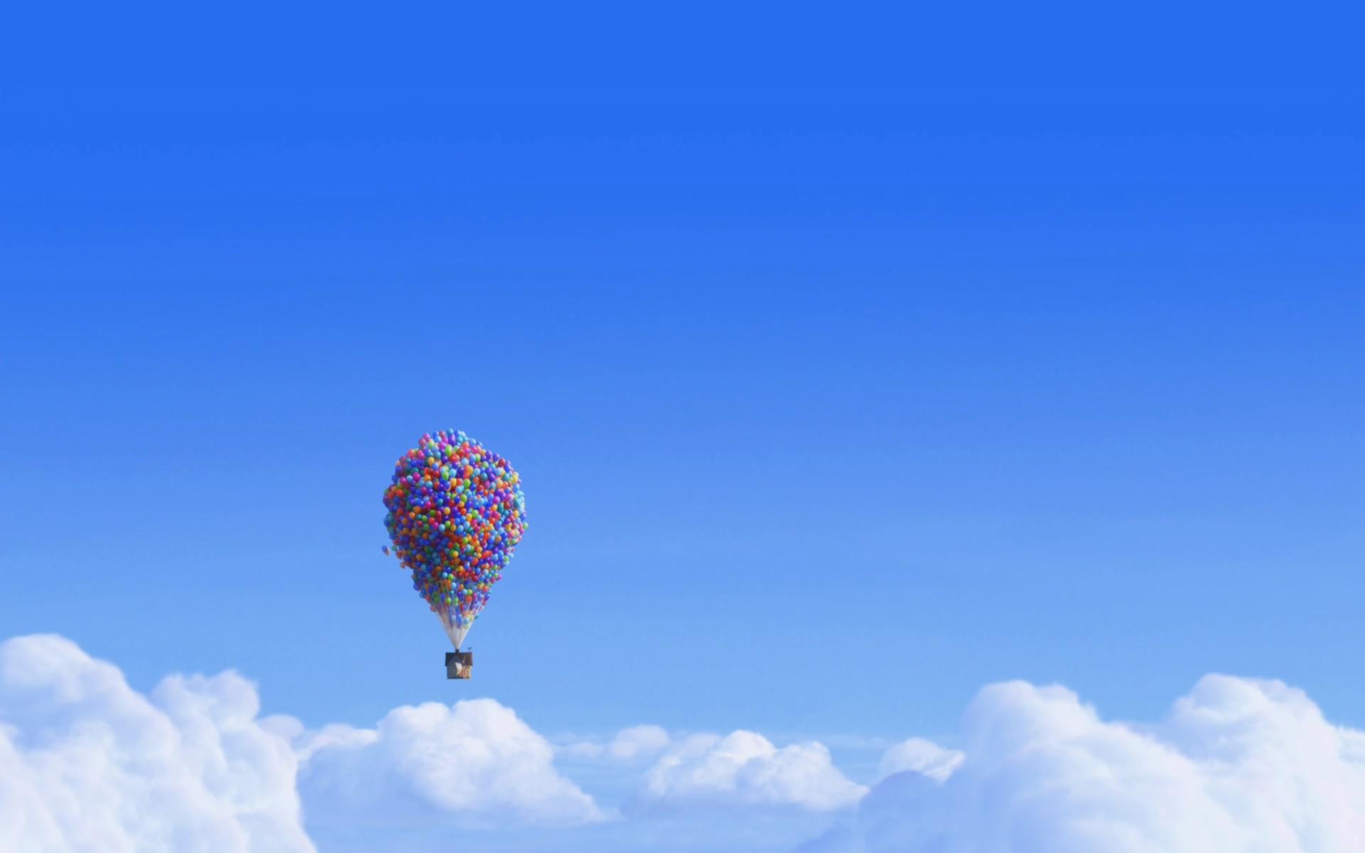 デスクトップ壁紙 車両 航空機 映画 青 熱気球 ウォルト