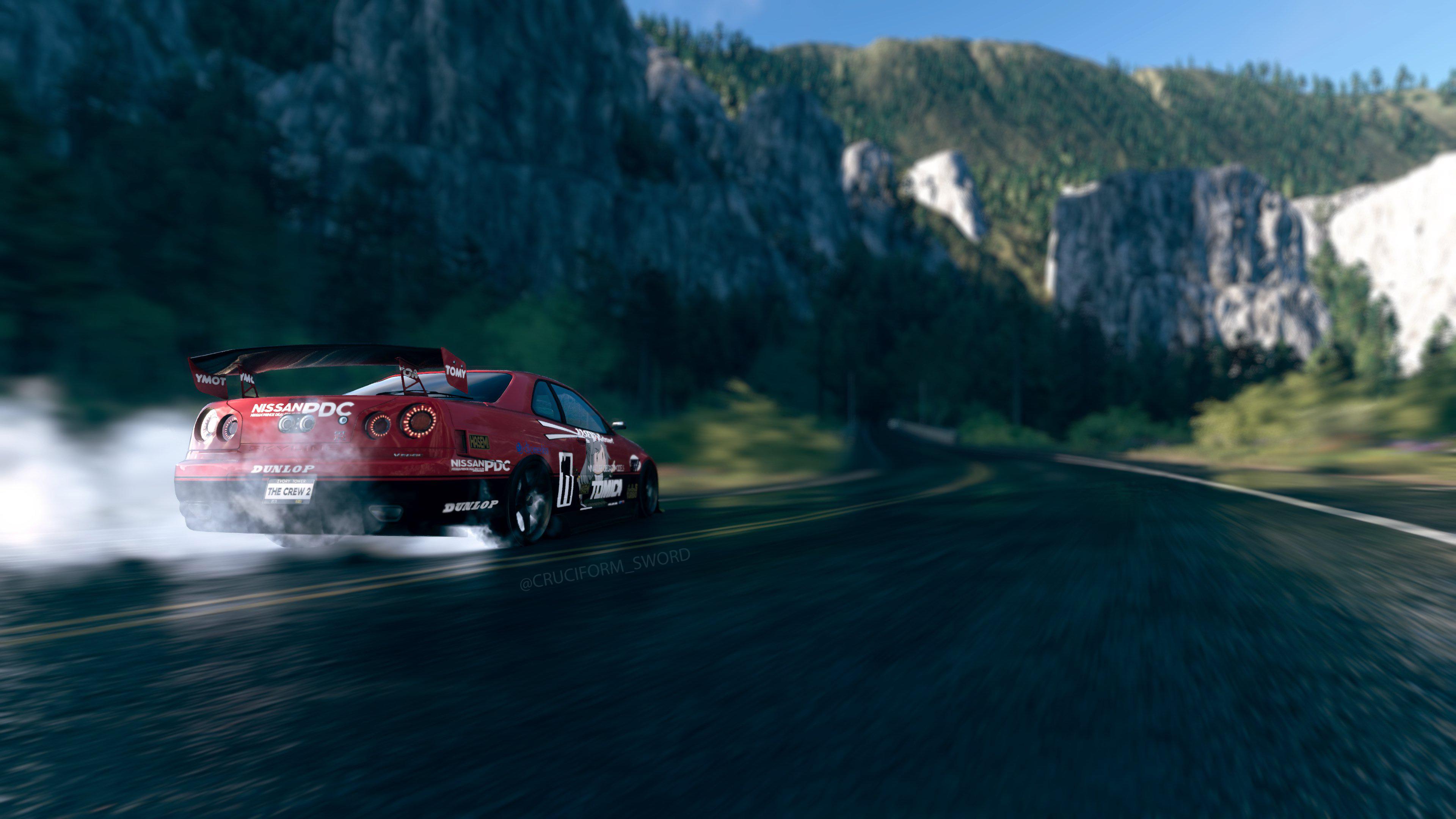 Wallpaper : skyline gtr, drift cars, in game, screen shot ...
