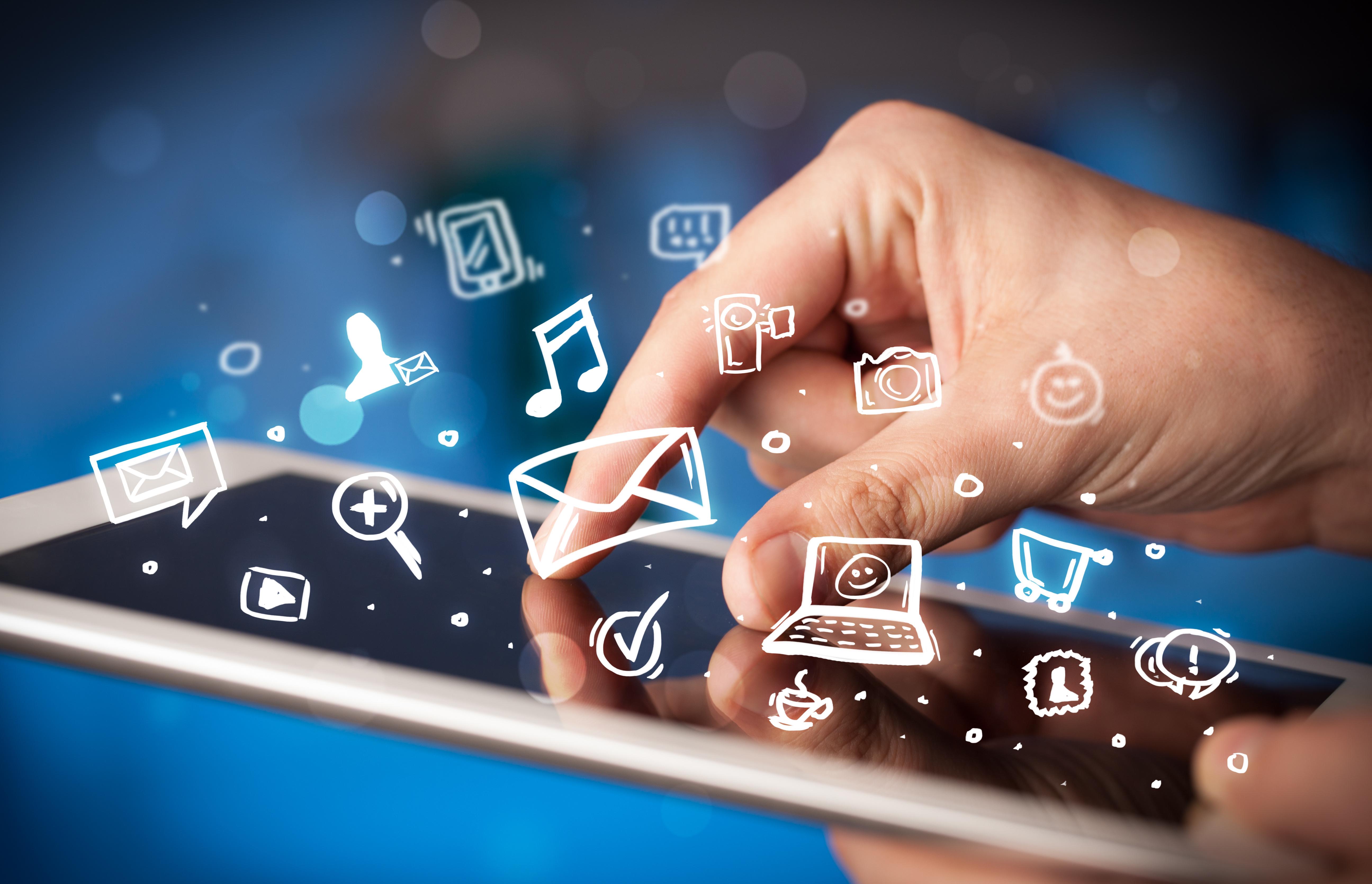 Wallpaper : smartphone, brand, tablet, icons, hand, finger ...