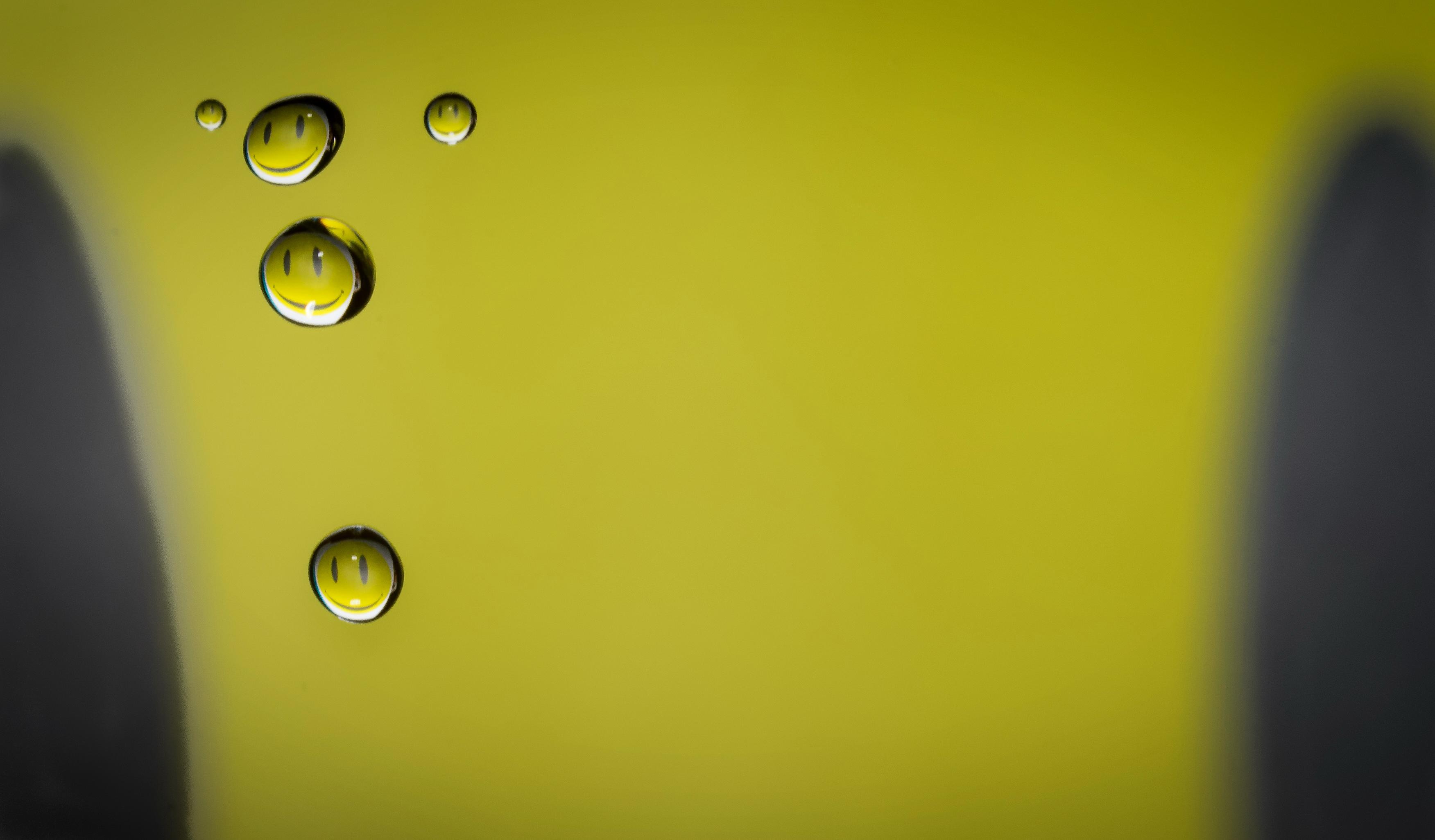 Wallpaper Smiley Droplet Water Waterdrop D7200 Nikon Sigma