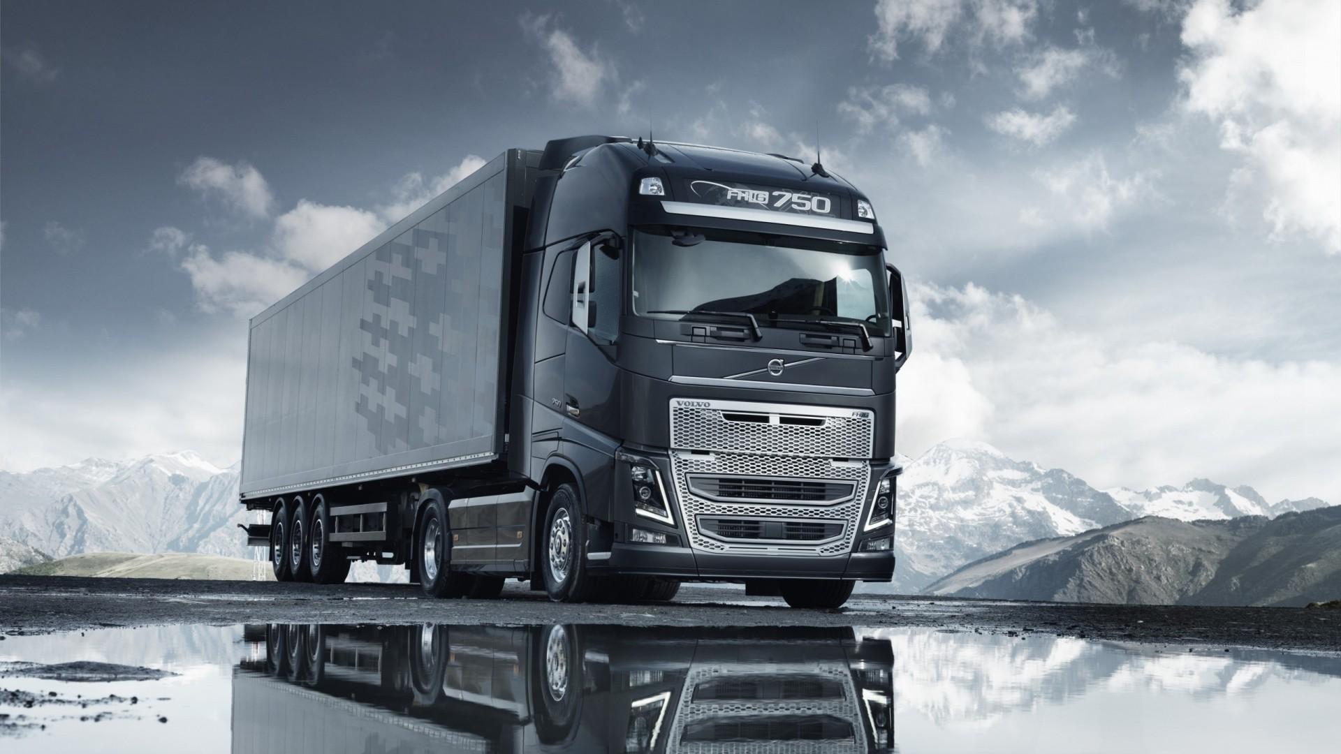фото красивого грузового вольво профессиональная