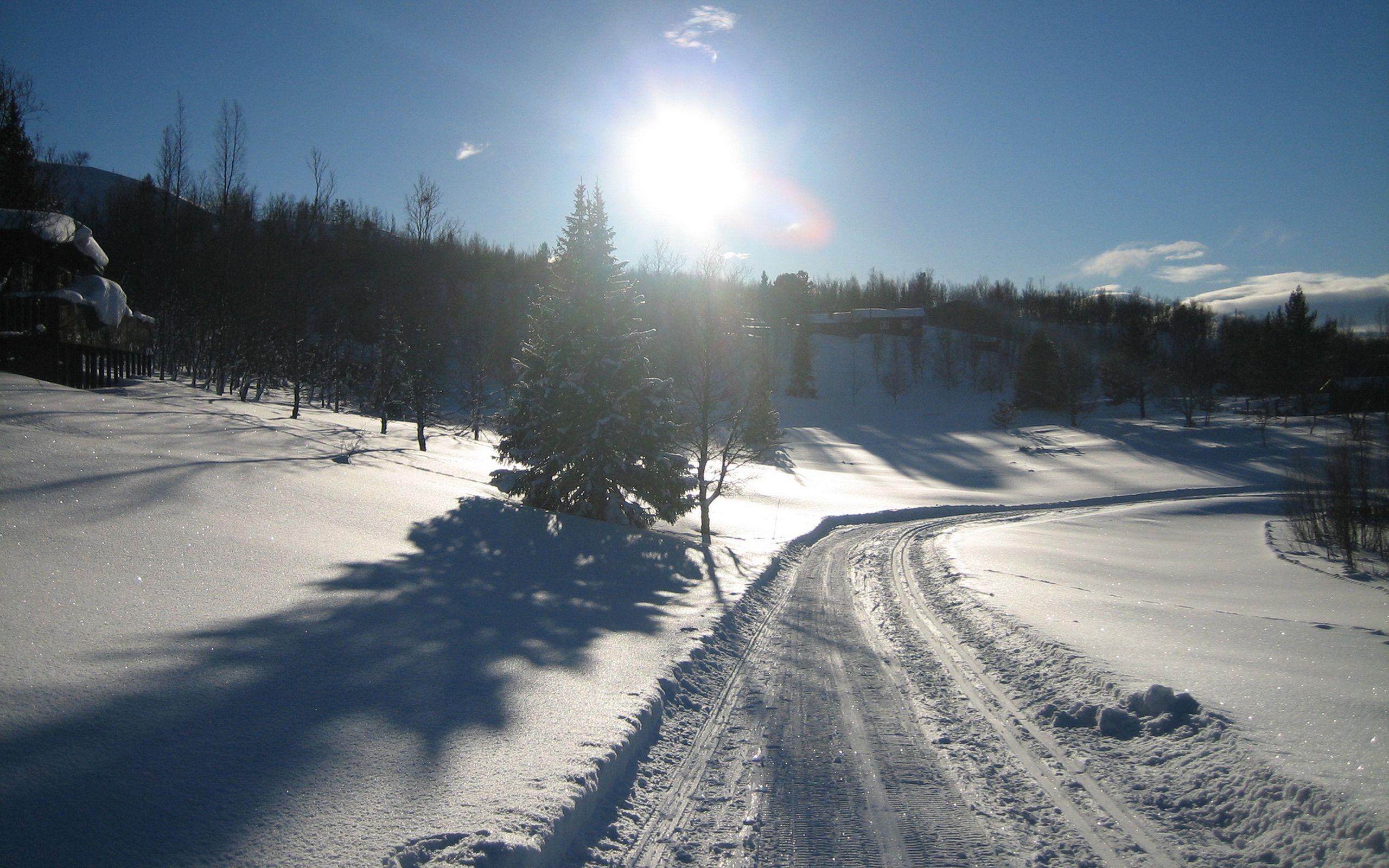 Wallpaper Snow Road Freezing Weather Season Piste Winter