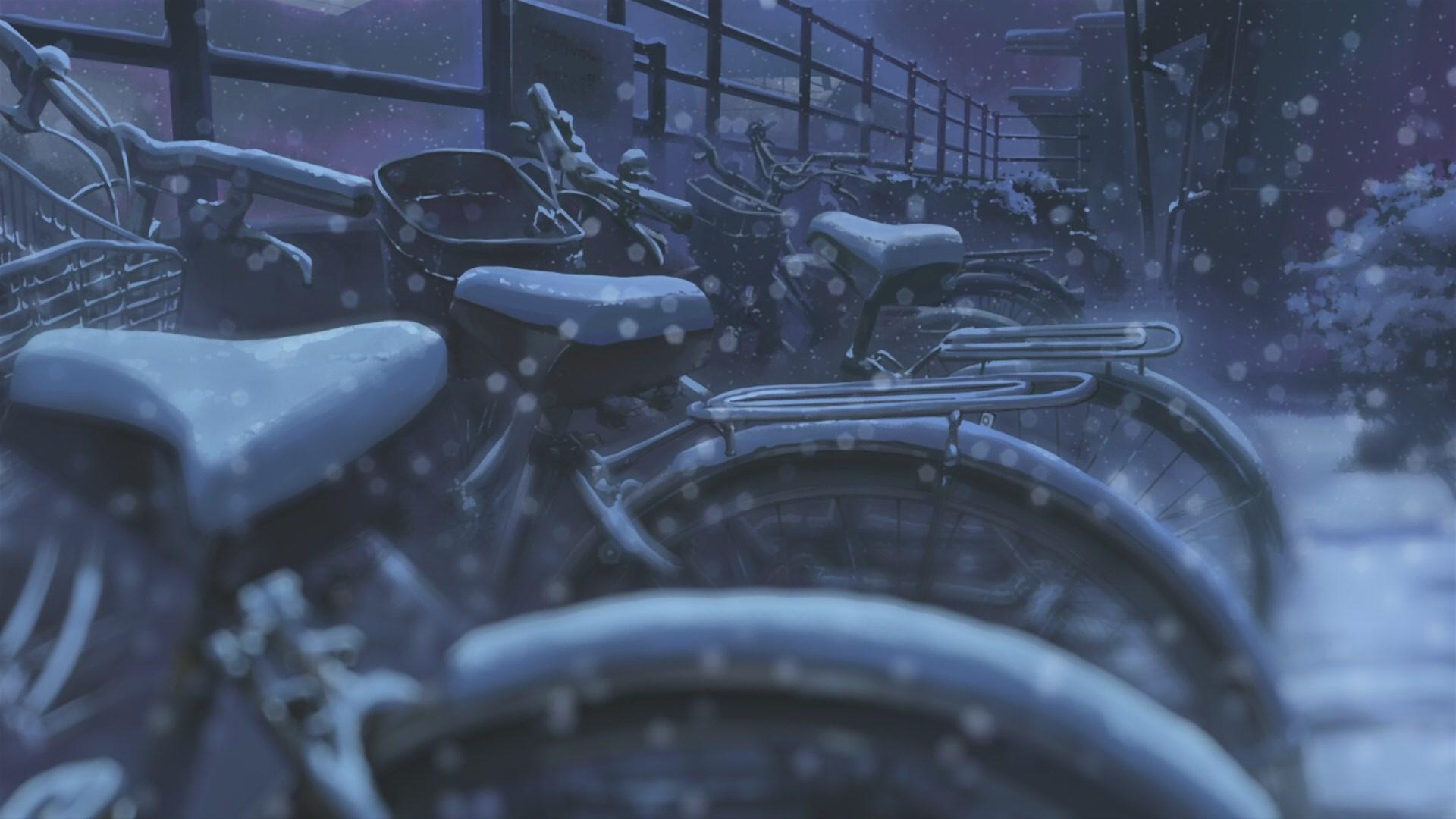 Wallpaper Snow Winter Vehicle Manga 5 Centimeters Per Second