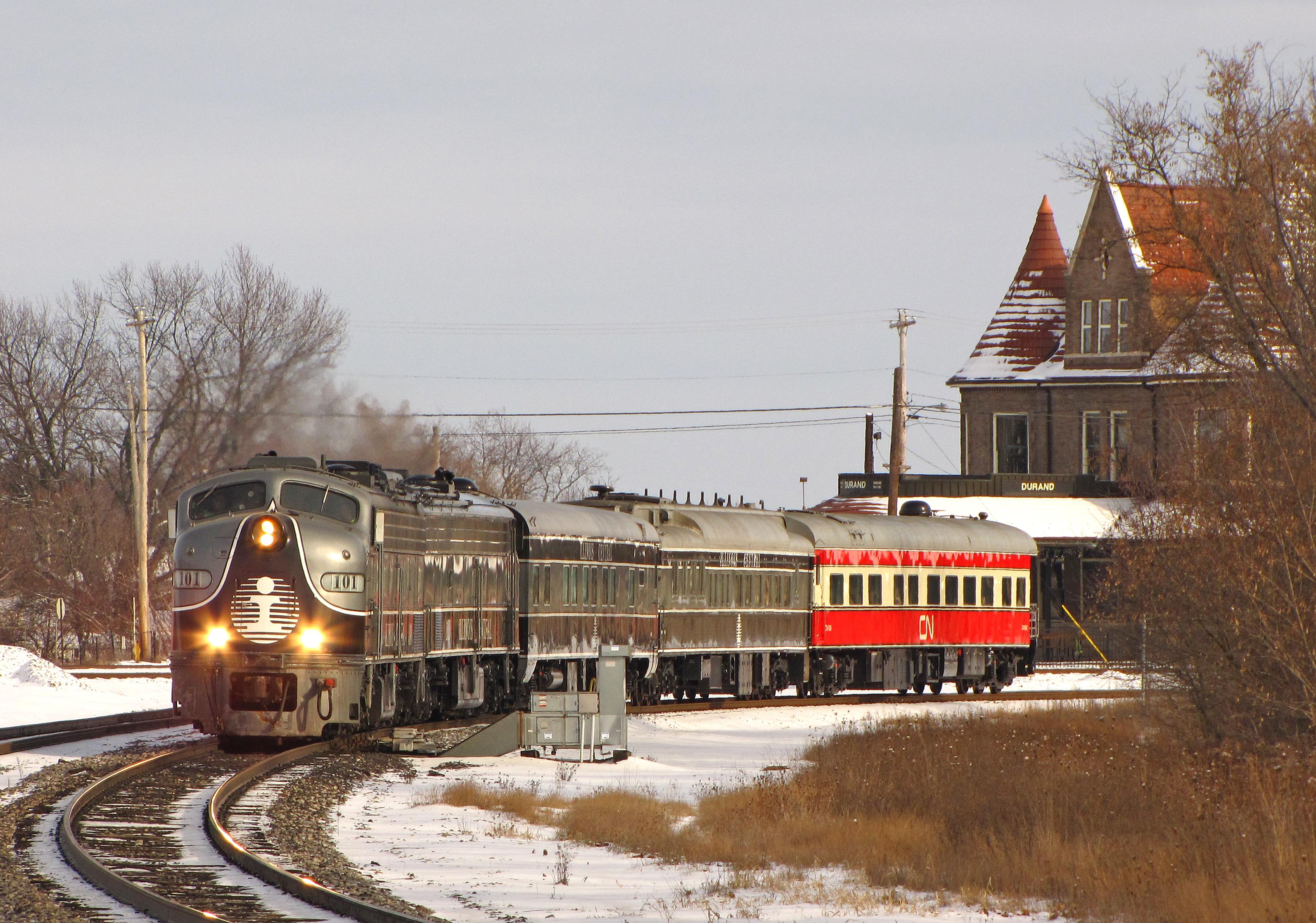 wallpaper snow winter vehicle train railway canadian christmas illinois michigan santa western locomotive passenger 100 national weather
