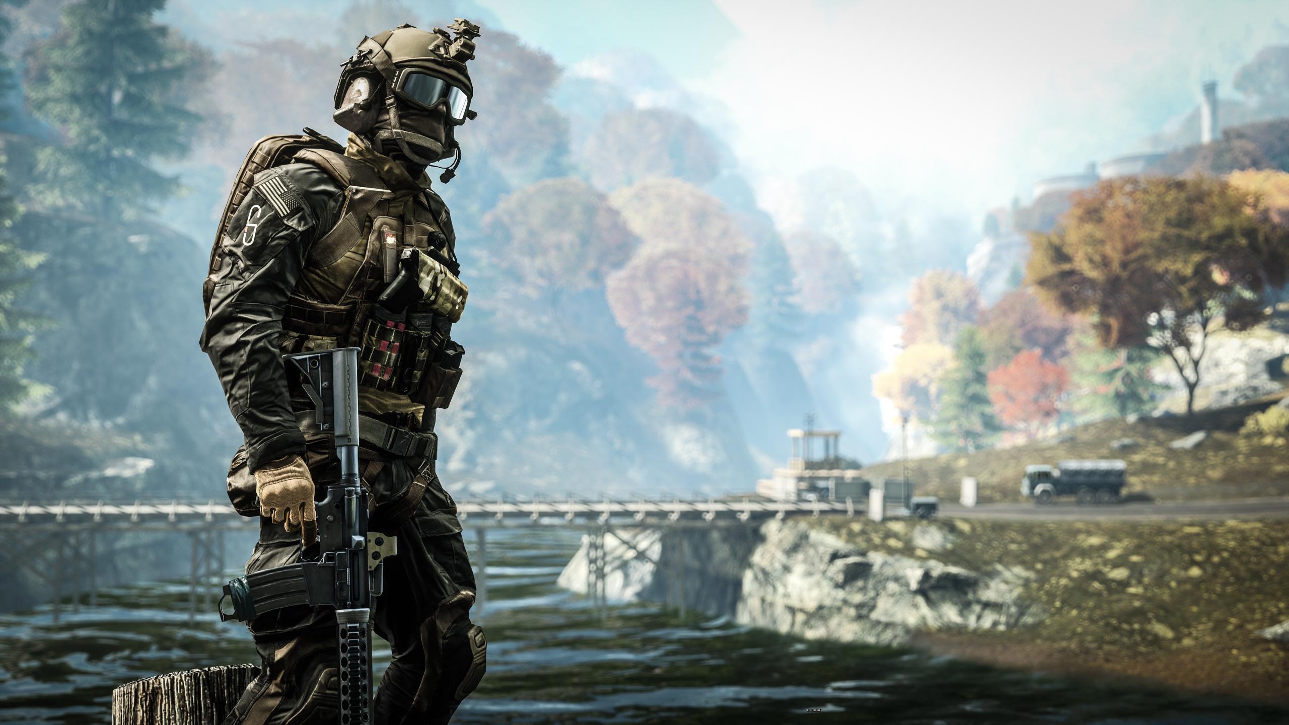 Cool Battlefield 4 Fire Armor In Black Background: วอลเปเปอร์ : Battlefield 4, ศิลปะ, ภูมิประเทศ, อุปกรณ์