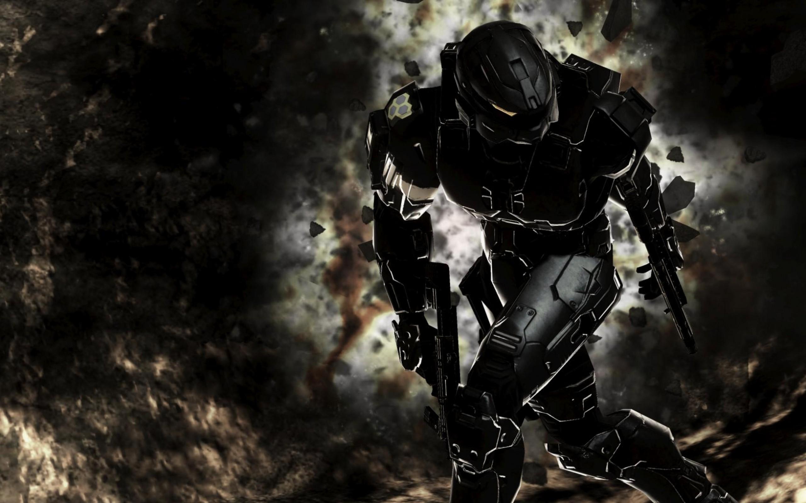 Wallpaper Soldier Master Chief Halo 3 Darkness Spartan