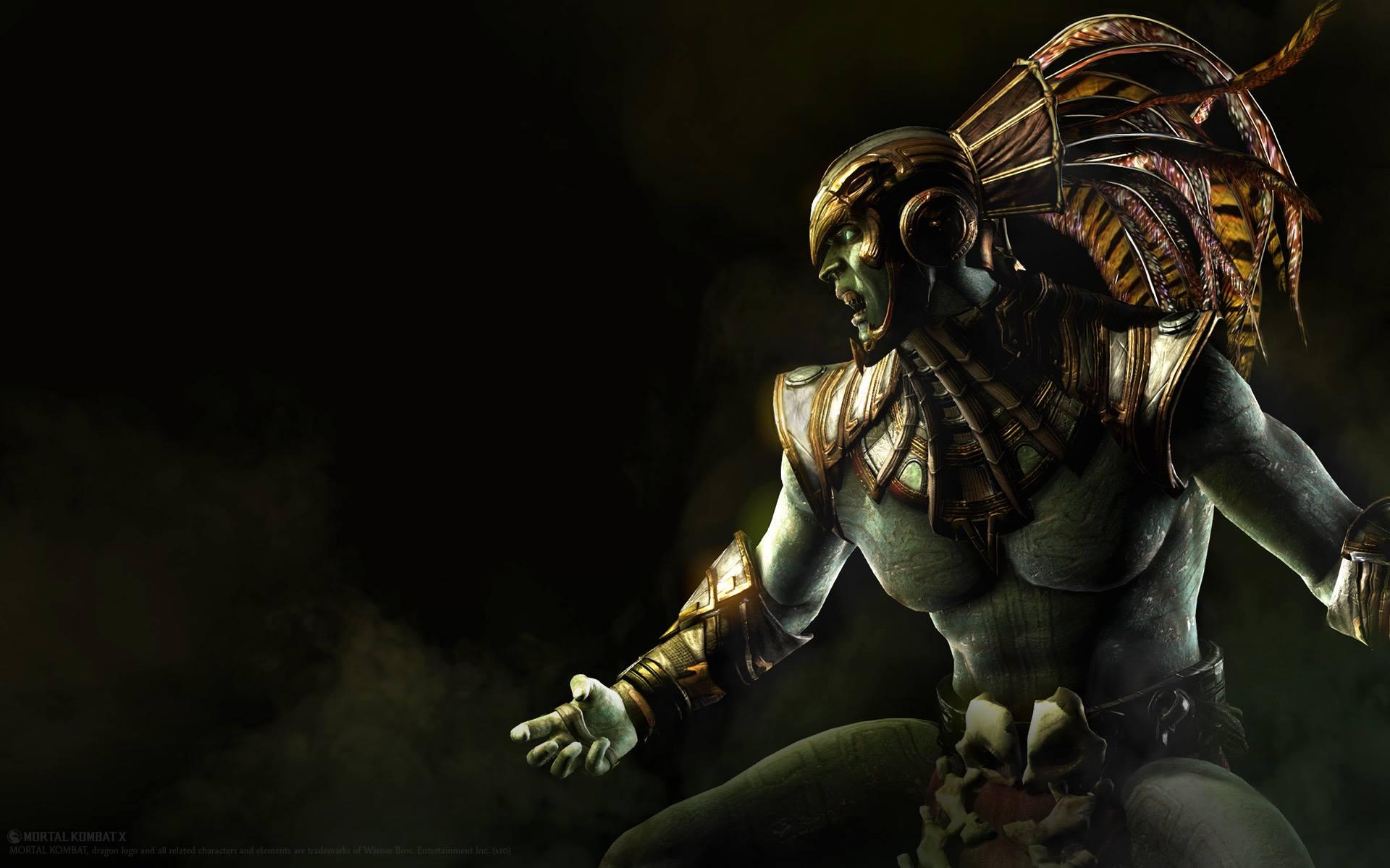 Wallpaper Soldier Mortal Kombat X Kotal Kahn Darkness