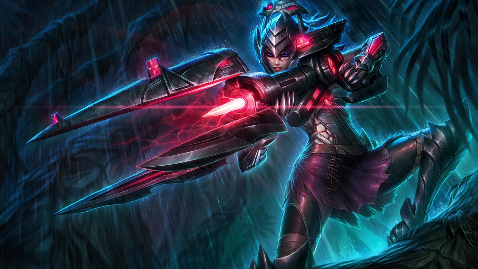Wallpaper Space League Of Legends Demon Caitlyn League